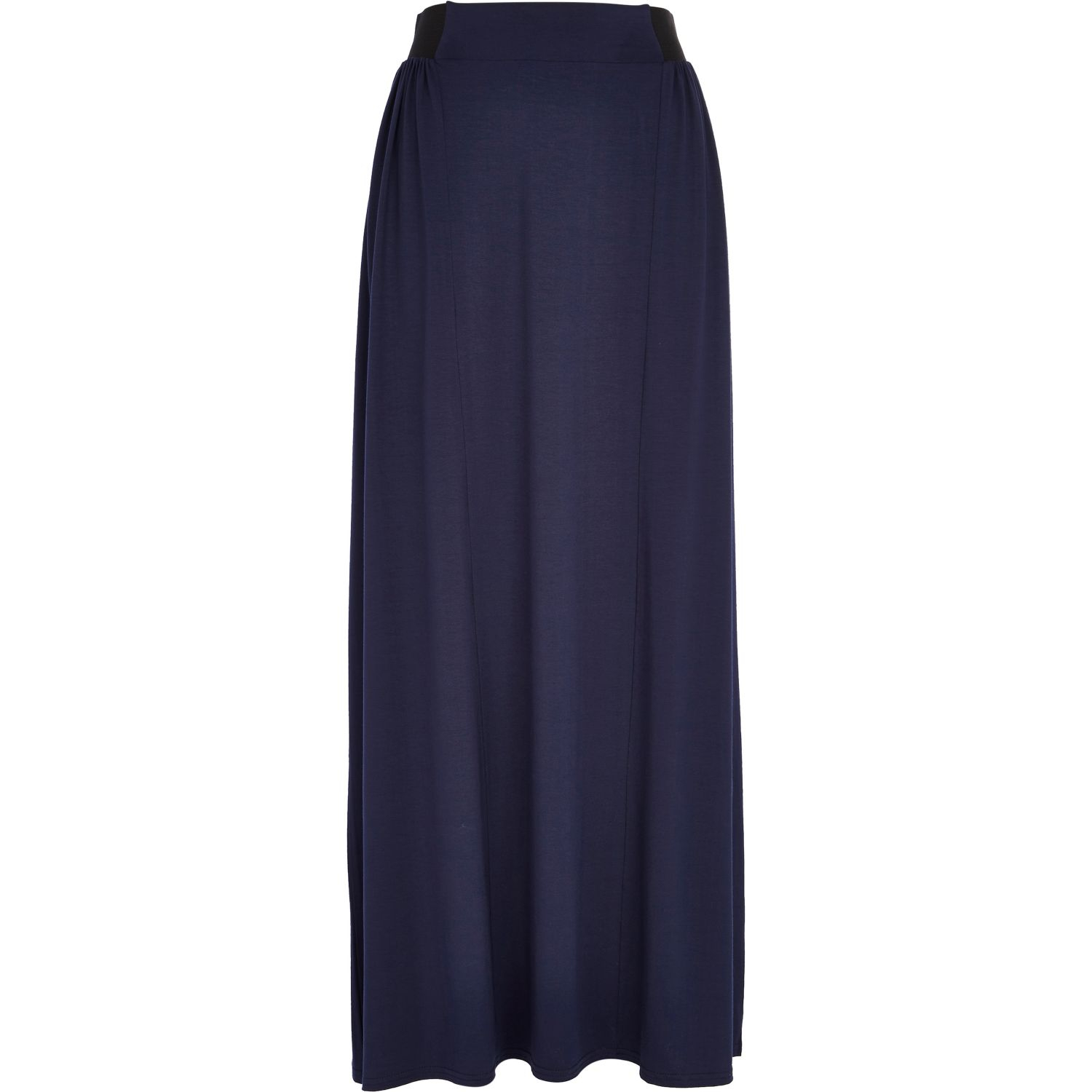 River island Navy Jersey Maxi Skirt in Blue | Lyst