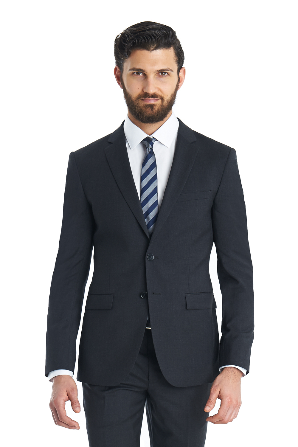 Dkny Slim Fit Charcoal 2 Piece Suit in Black for Men ...
