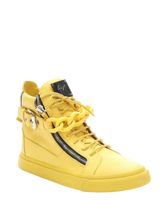 yellow giuseppe zanotti sneakers