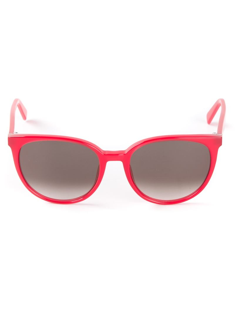 61026f36fe Céline  thin Mary  Sunglasses in Red - Lyst