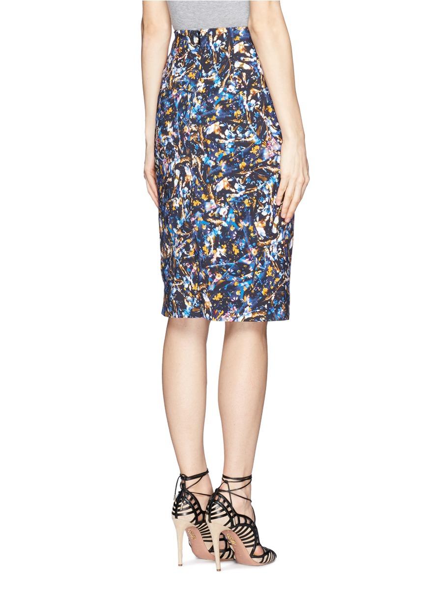 floral pencil skirt - photo #29
