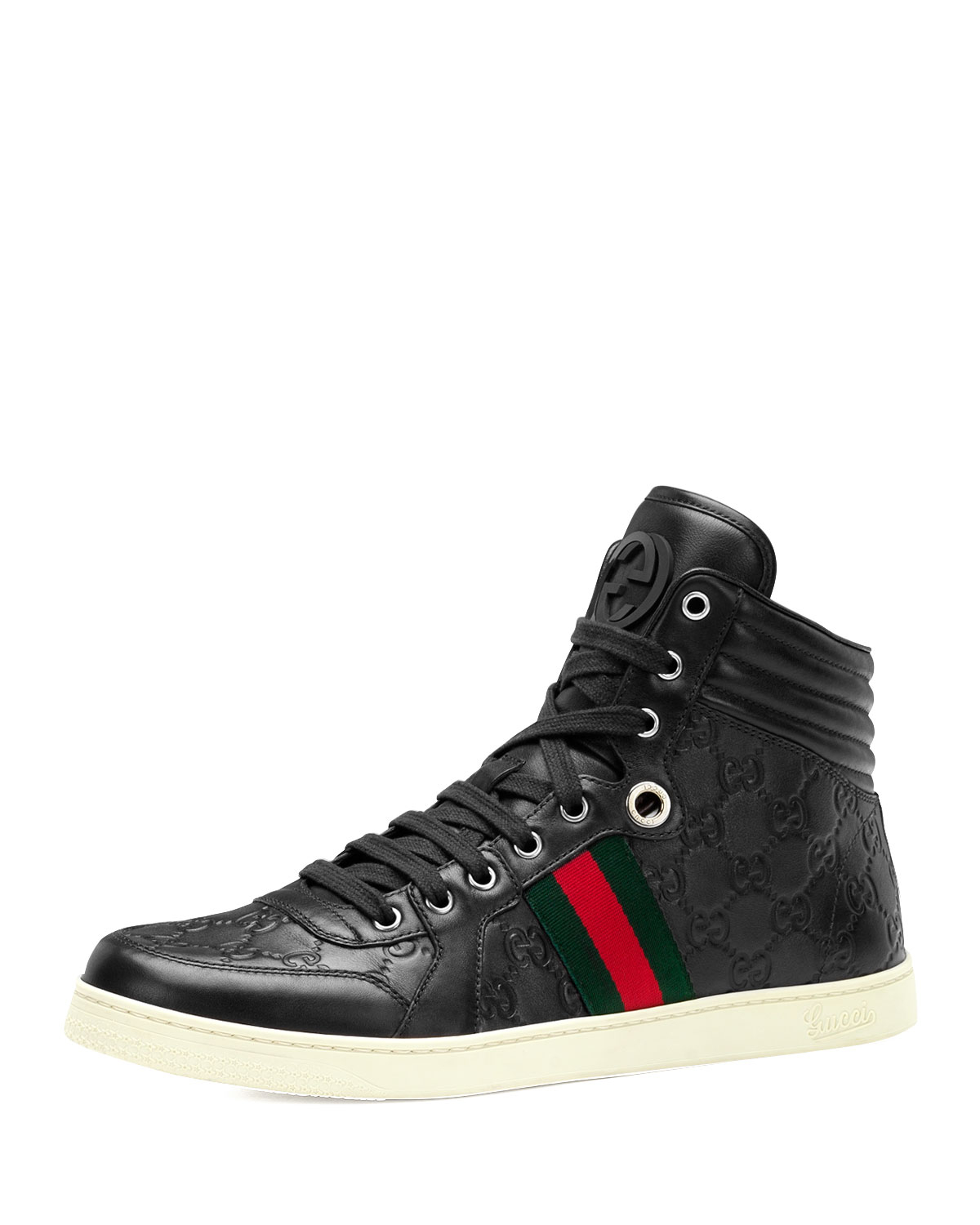 Lyst Gucci Coda Ssima Leather High Top Sneaker In Black