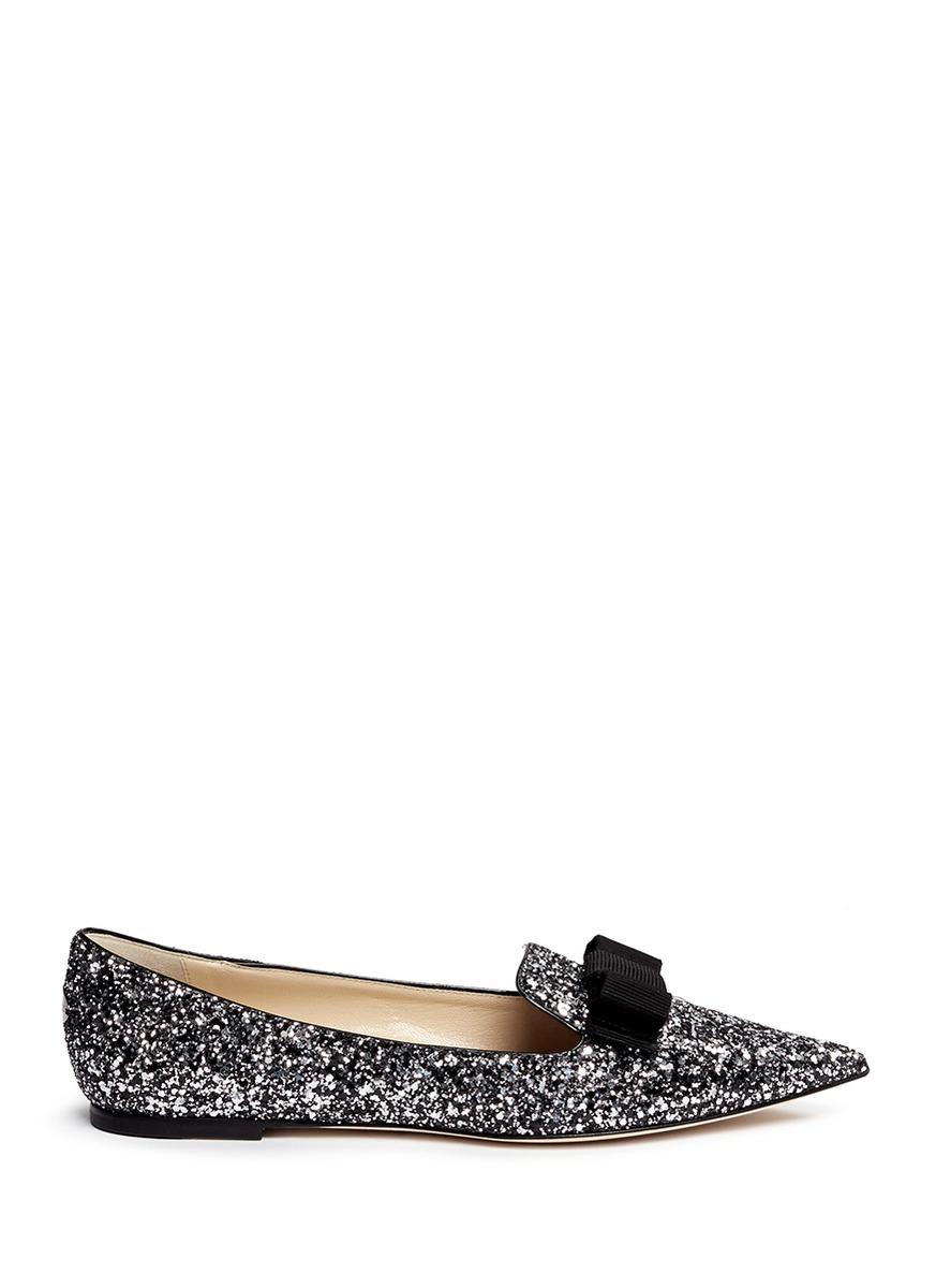 Glitter Evening Wear Shoes Black