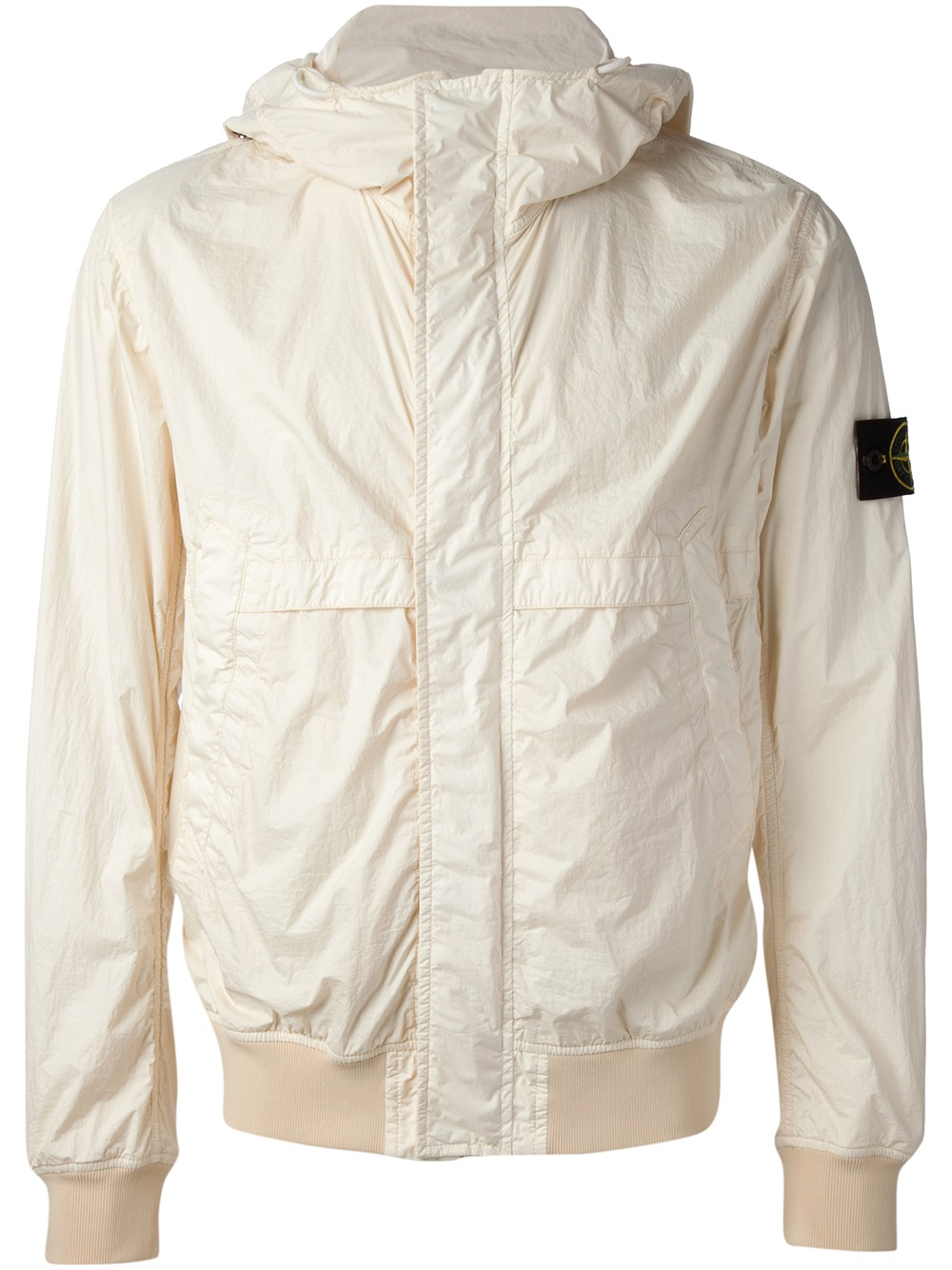 Lyst Stone Island Membrana Tc Jacket In Natural For Men