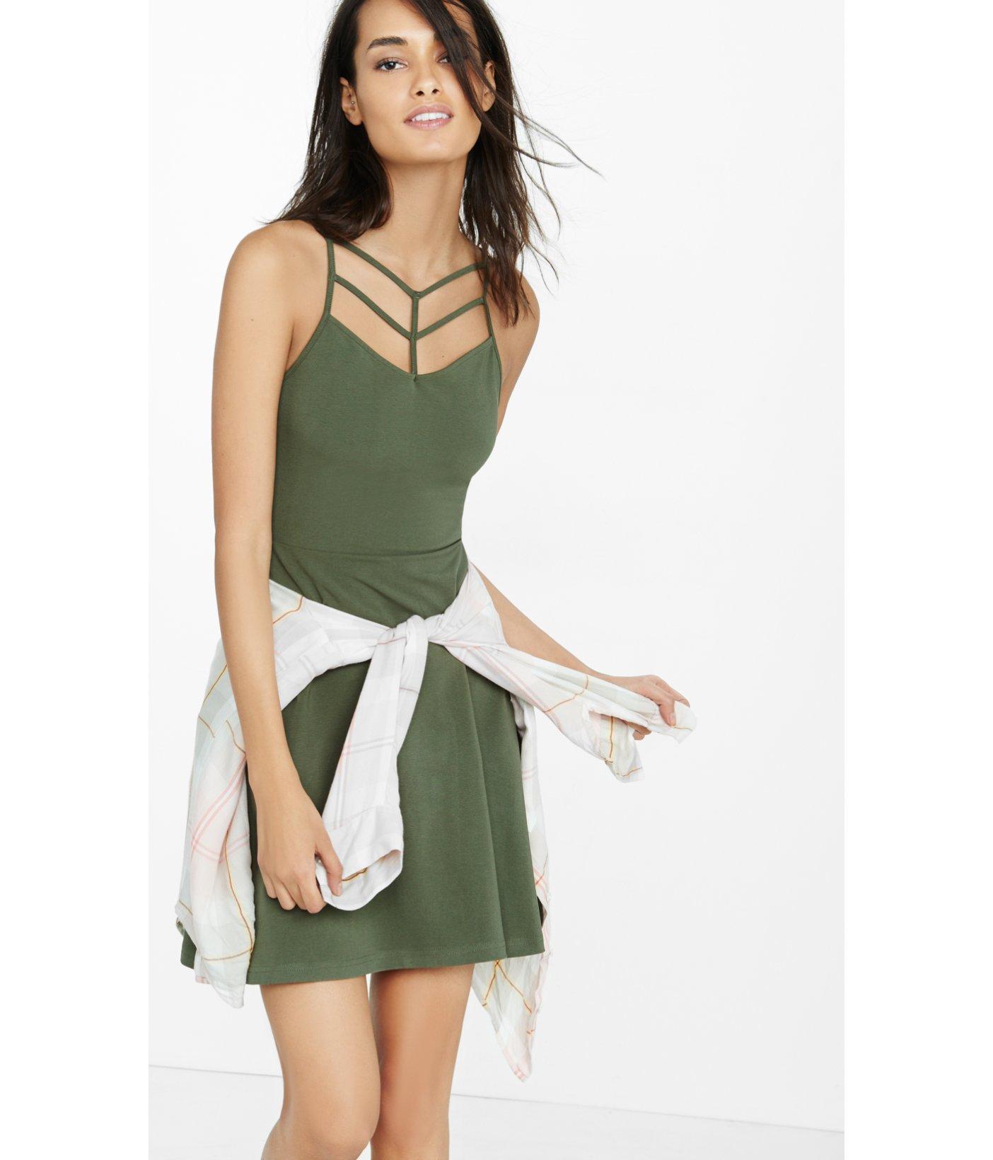 Green Strappy Dress