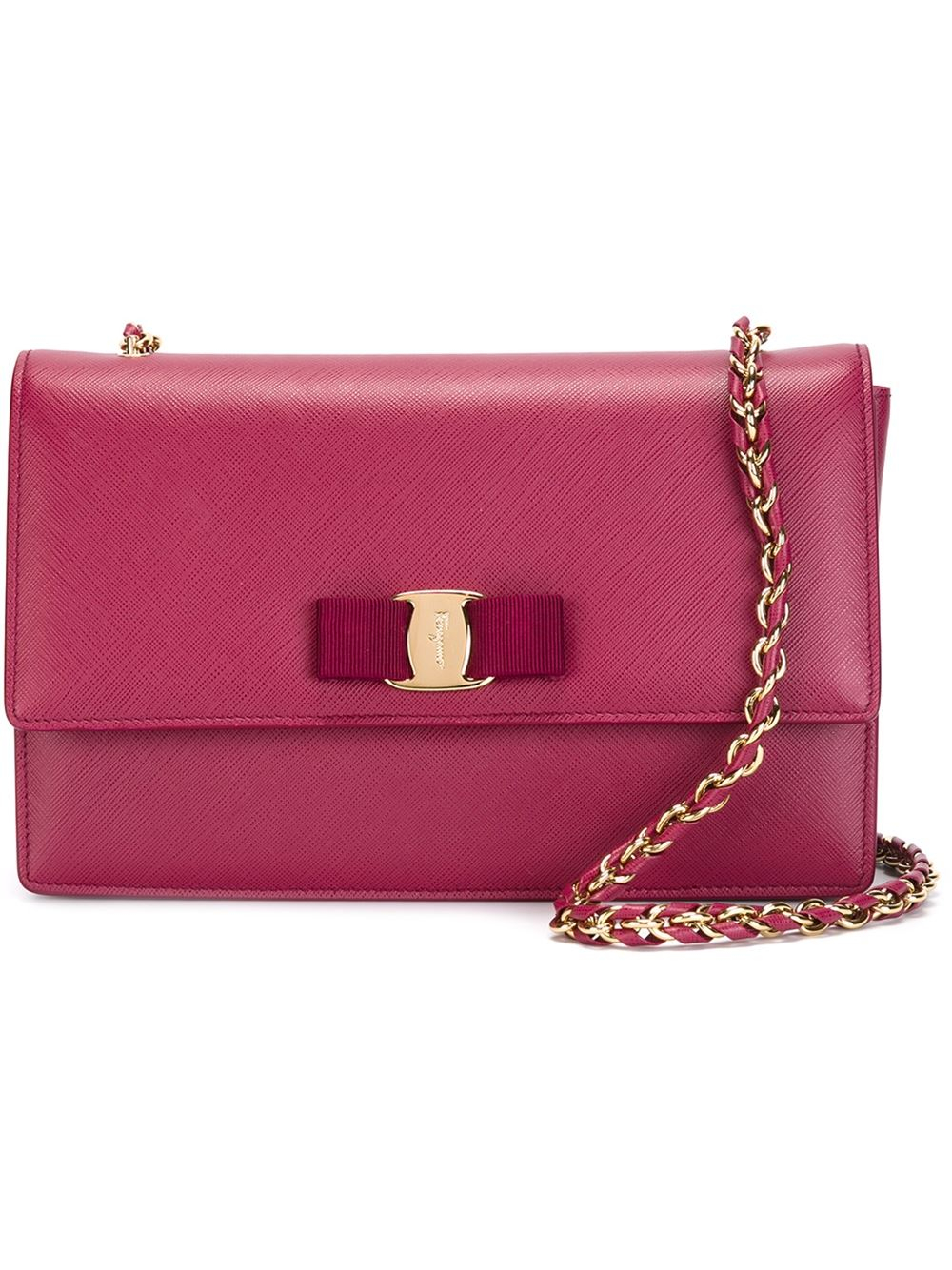 Salvatore Ferragamo Quilted Crossbody Bag  half off 65dc9 65a1b Lyst - Ferragamo  Ginny Leather Cross-Body Bag in Pink ... b4c8be5927