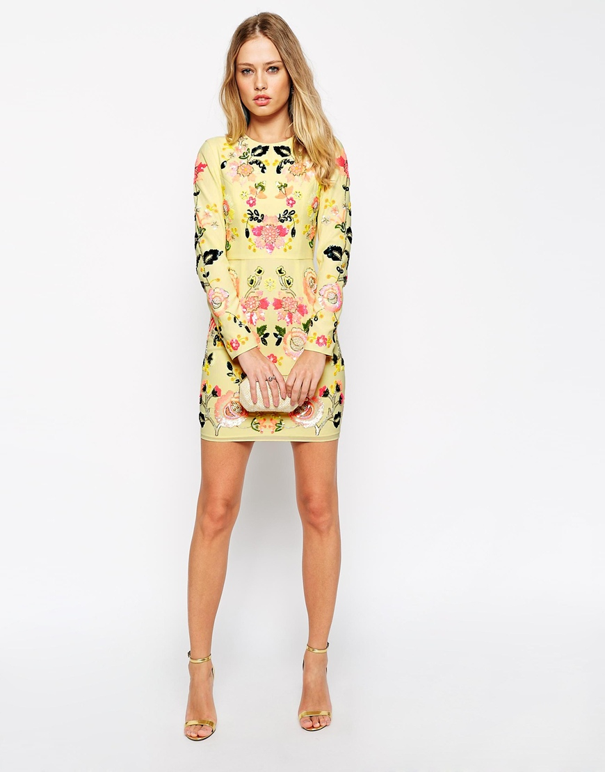 Needle & thread Embellished Summer Garden Dress in Metallic | Lyst