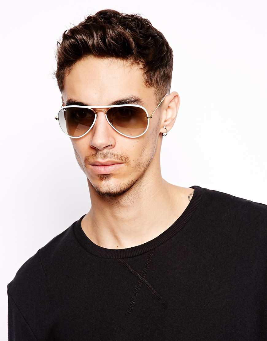 ray ban men  Ray-ban Aviator Sunglasses in White for Men