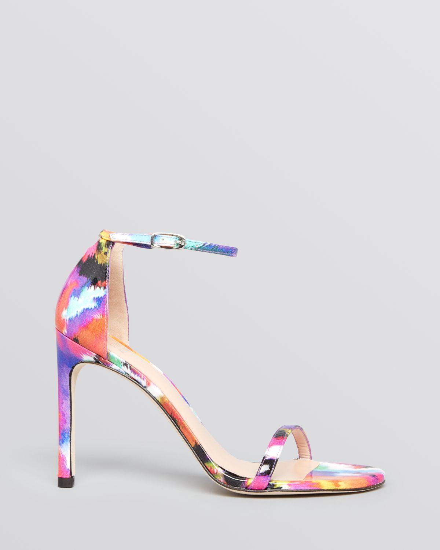 Multi Color Strappy Heels - Is Heel