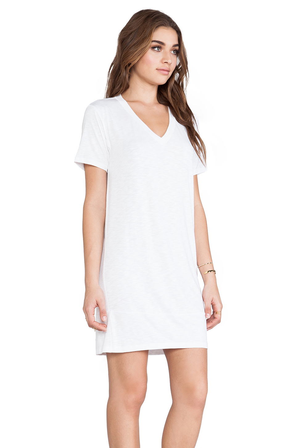 Lyst Dolan V Neck T Shirt Dress In White