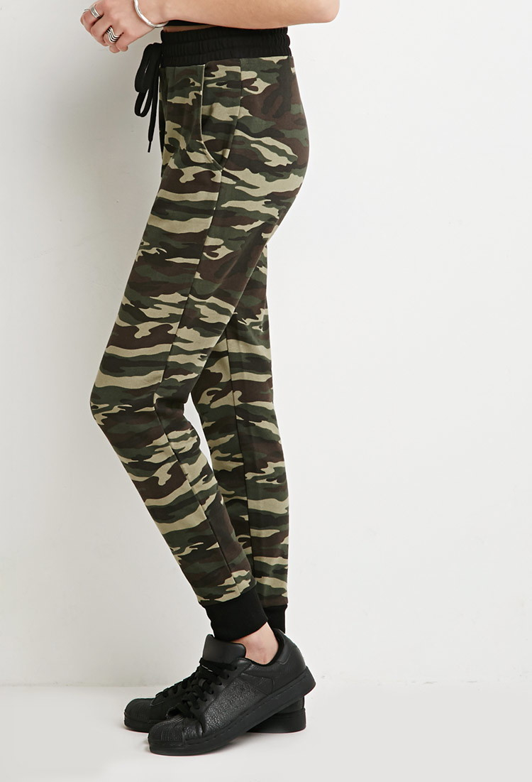 Simple Forever 21 Paneled Camo Pants In Green (Olive/brown) | Lyst