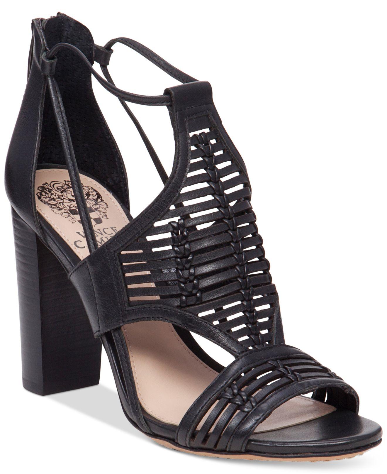 a2898a707ab Lyst - Vince Camuto Ceara Huarache Block-heel Dress Sandals in Black