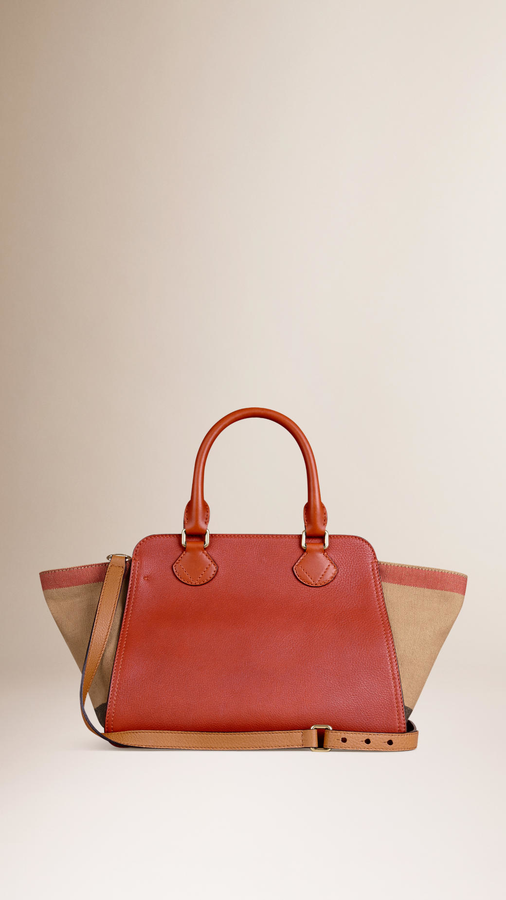 1578982109b1 Lyst - Burberry Medium Canvas Check And Leather Tote Bag in Brown