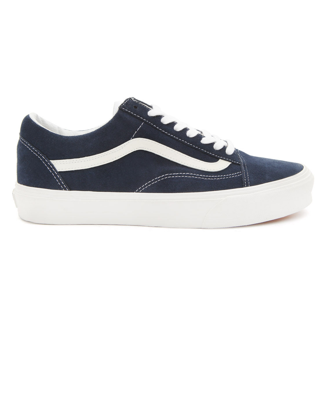vans old skool navy suede in blue for men navy lyst. Black Bedroom Furniture Sets. Home Design Ideas