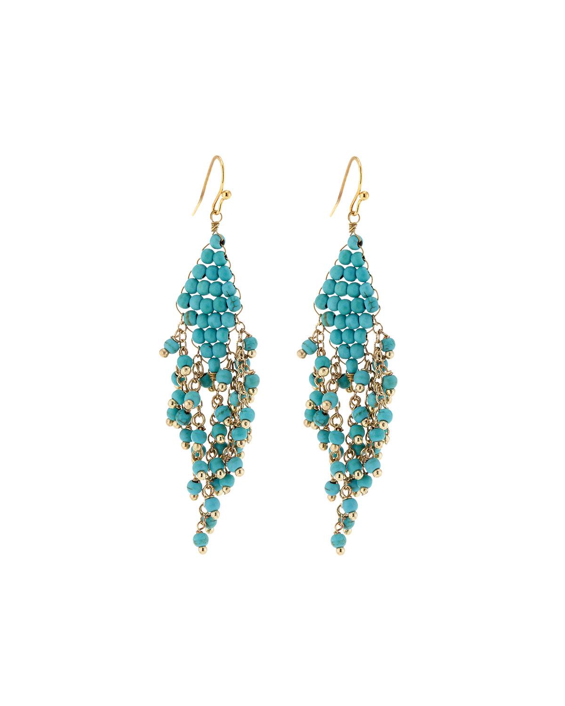 Nakamol Fringe Teardrop Earrings, Blue