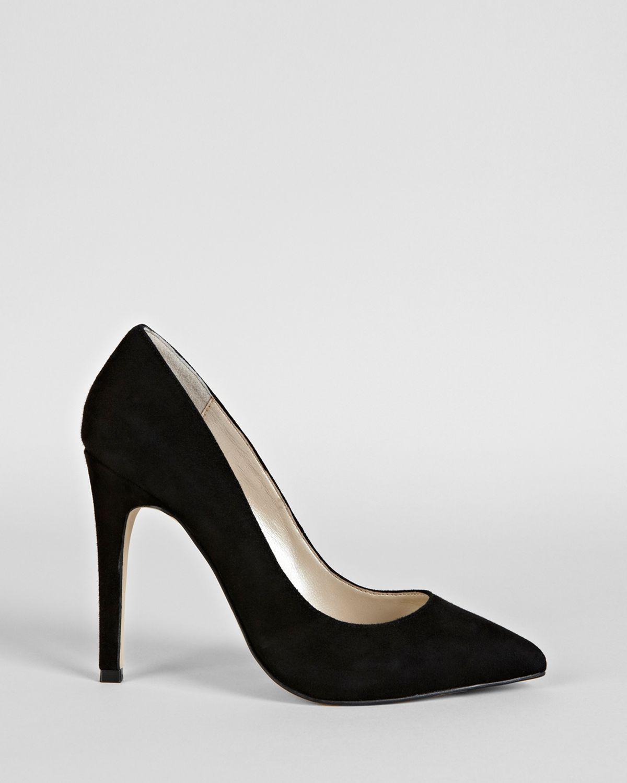 Lyst Karen Millen Pointed Toe Pumps Court High Heel In Black