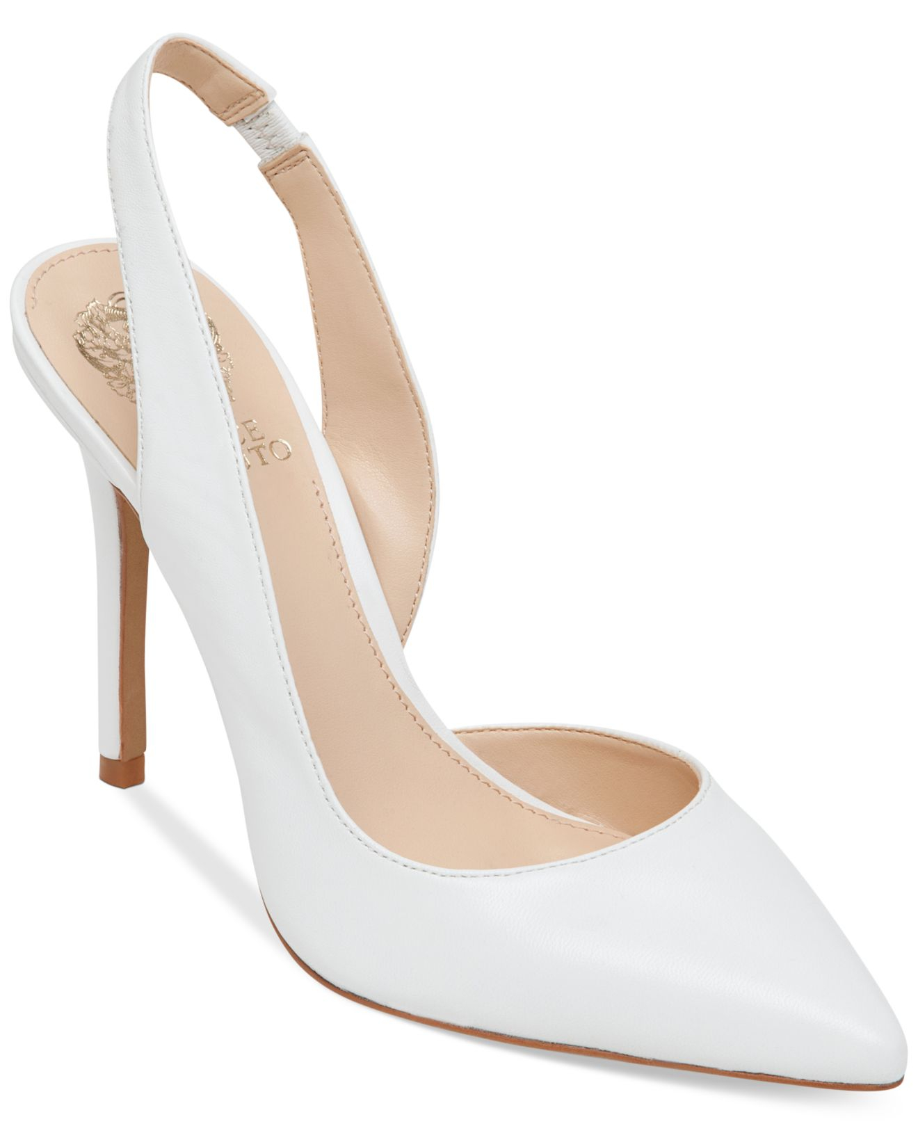 Vince camuto Sassa Slingback Pumps in White | Lyst