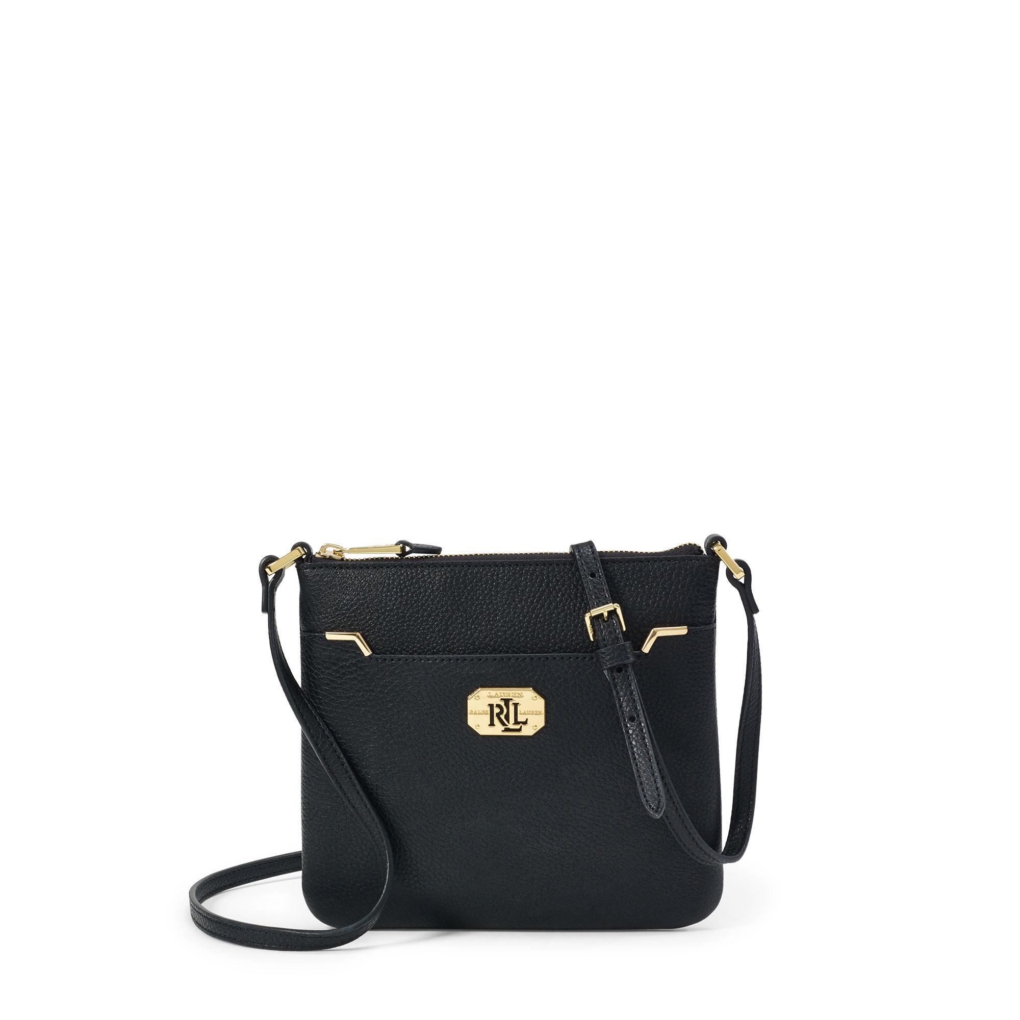 Ralph Lauren Acadia Cross-body Bag in Black - Lyst 66a504aa8de95