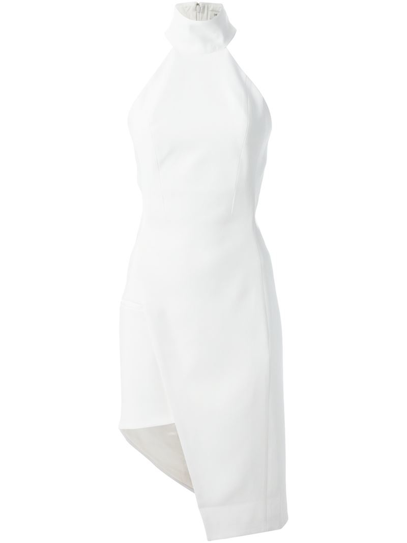 asymmetric dress - White MUGLER N5V82F4
