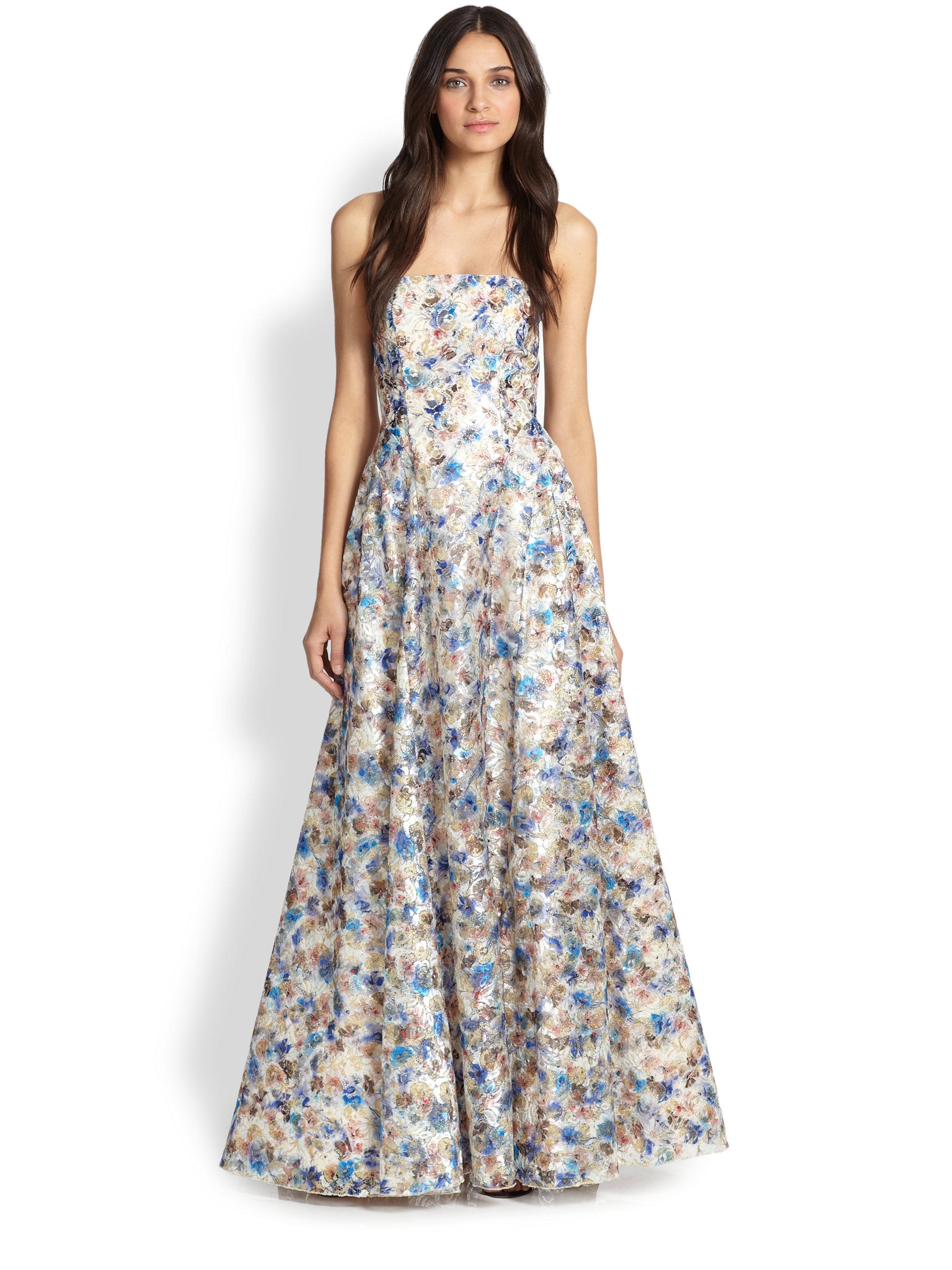 e3218e252c57 Lyst - Alice + Olivia Dreema Strapless Gown
