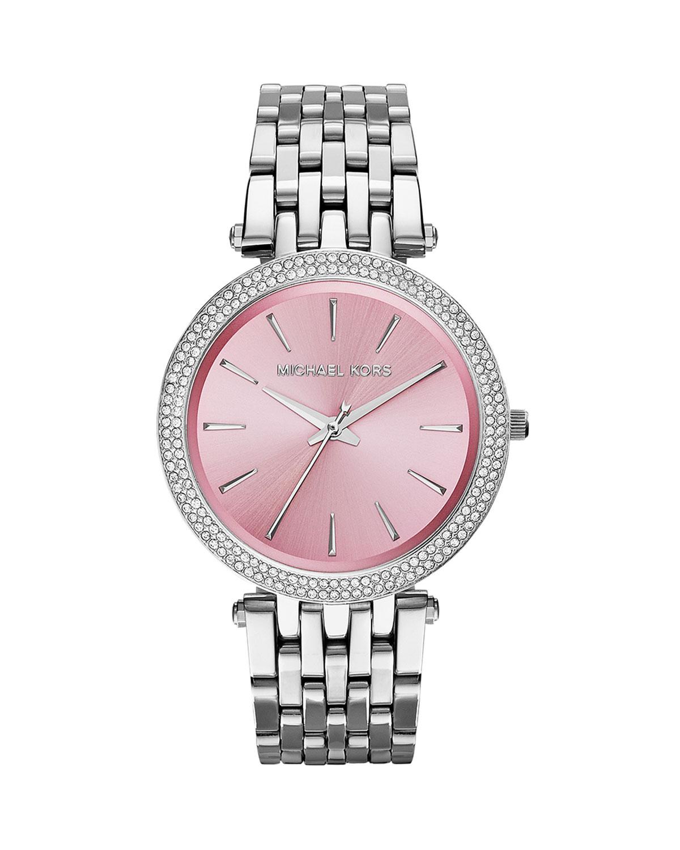 b639d638dee6 Lyst Michael Kors Darci Rose Gold Stainless Steel Watch Mk3400 In Pink
