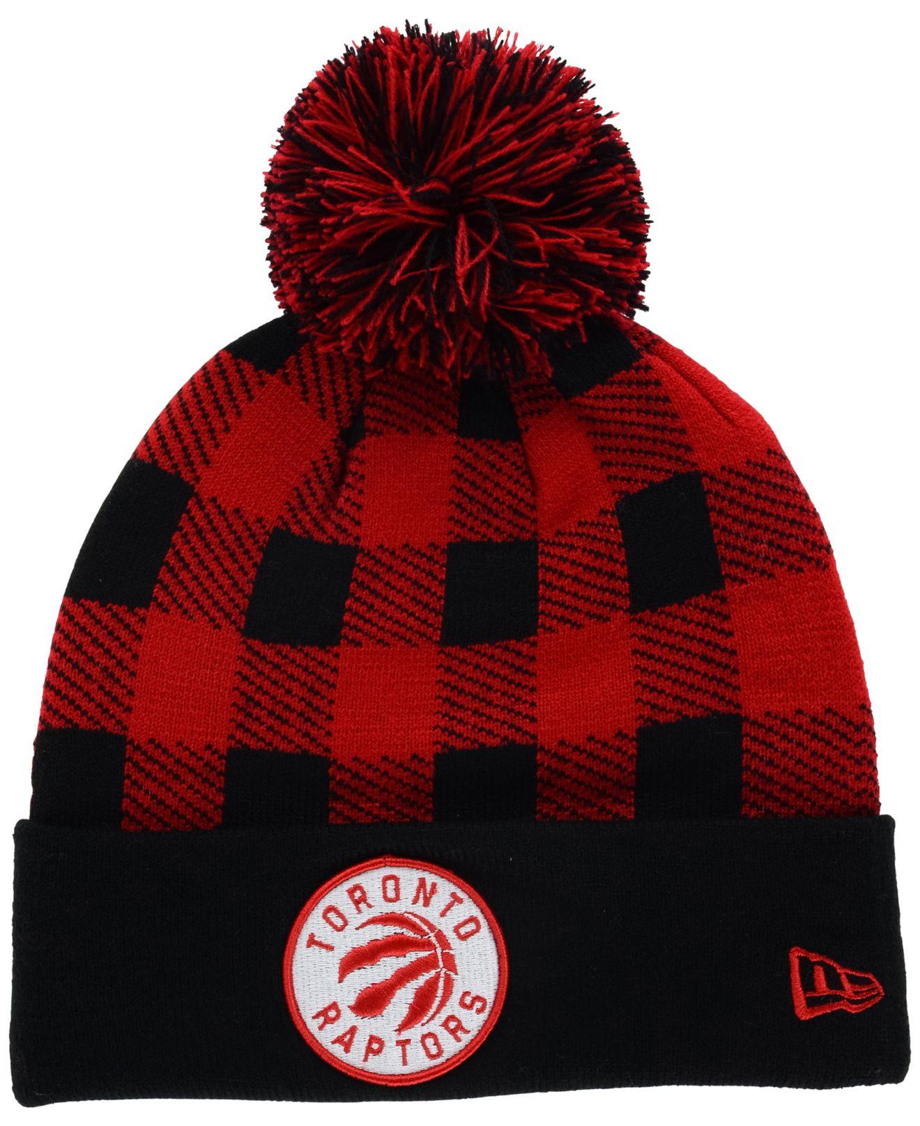 6cee0465676805 KTZ Toronto Raptors Buff Plaid Knit Hat in Red for Men - Lyst