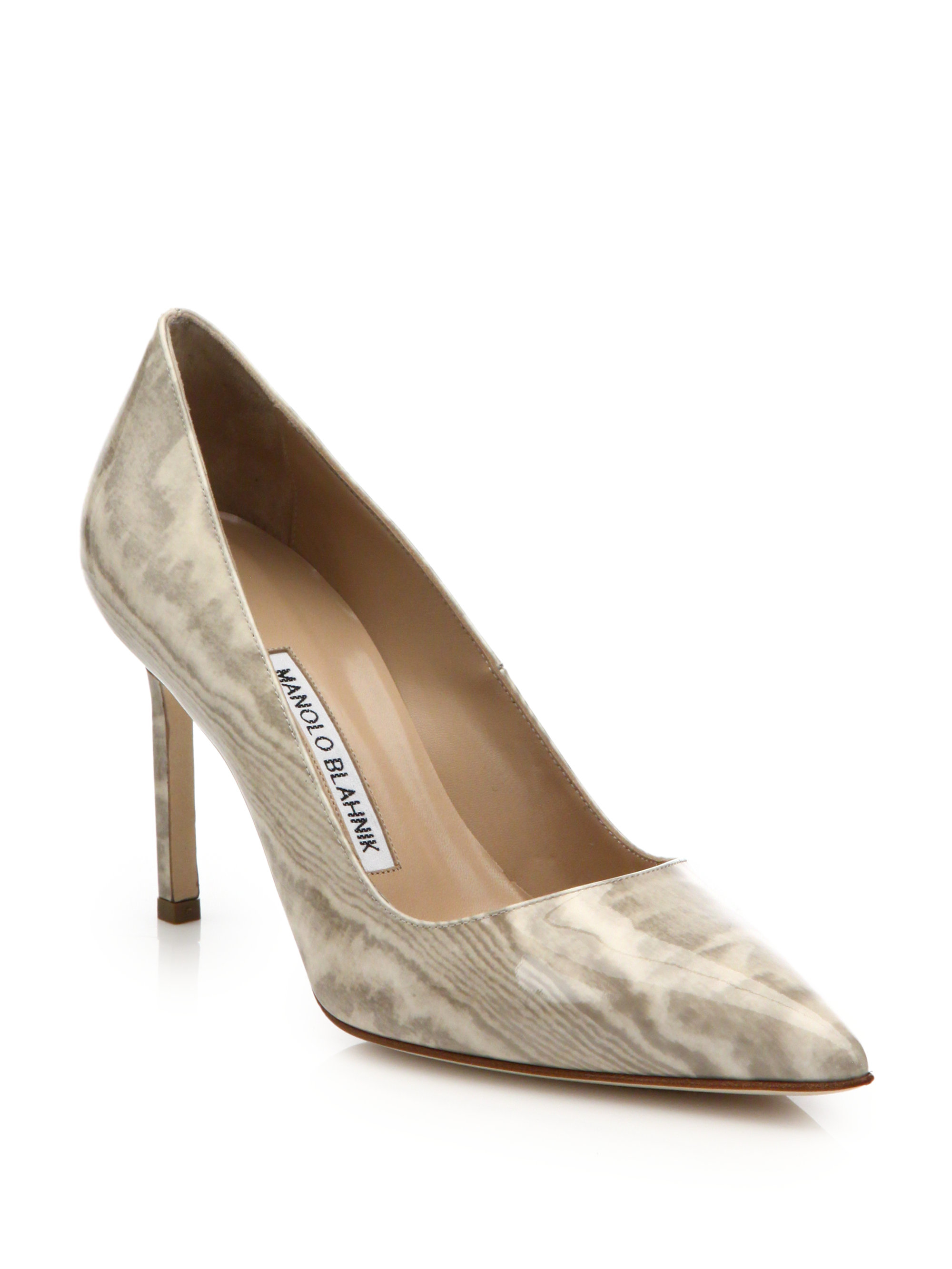 Lyst Manolo Blahnik Bb Patent Leather Point Toe Pumps In