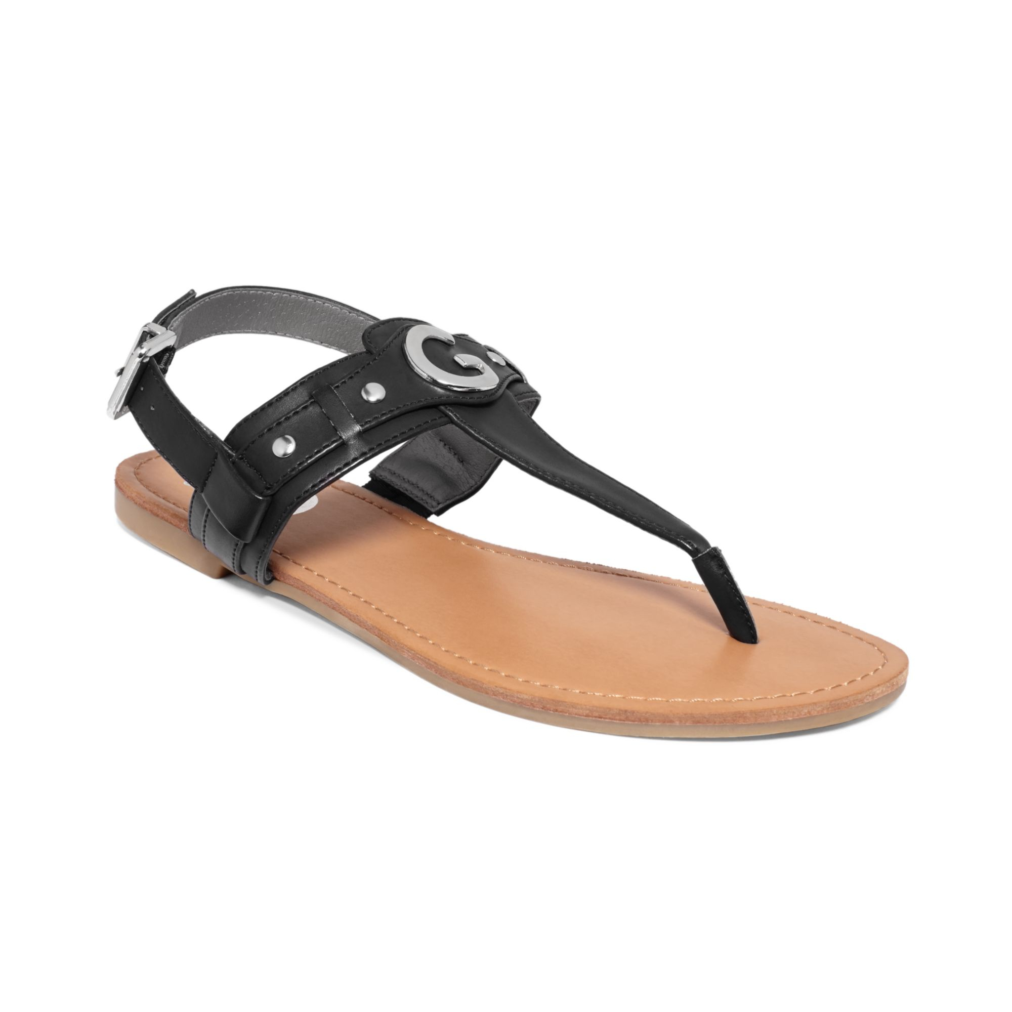 2a88987a3f9c5 Lyst - G By Guess Womens Lundon Flat Thong Sandals in Black ...