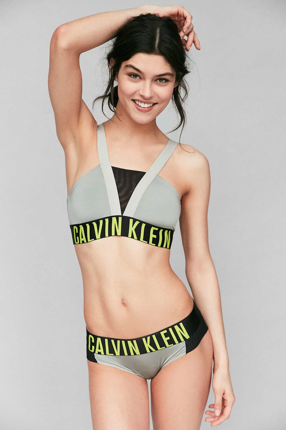b3c75c2d27888 Lyst - Calvin Klein Intense Power Bralette in Black