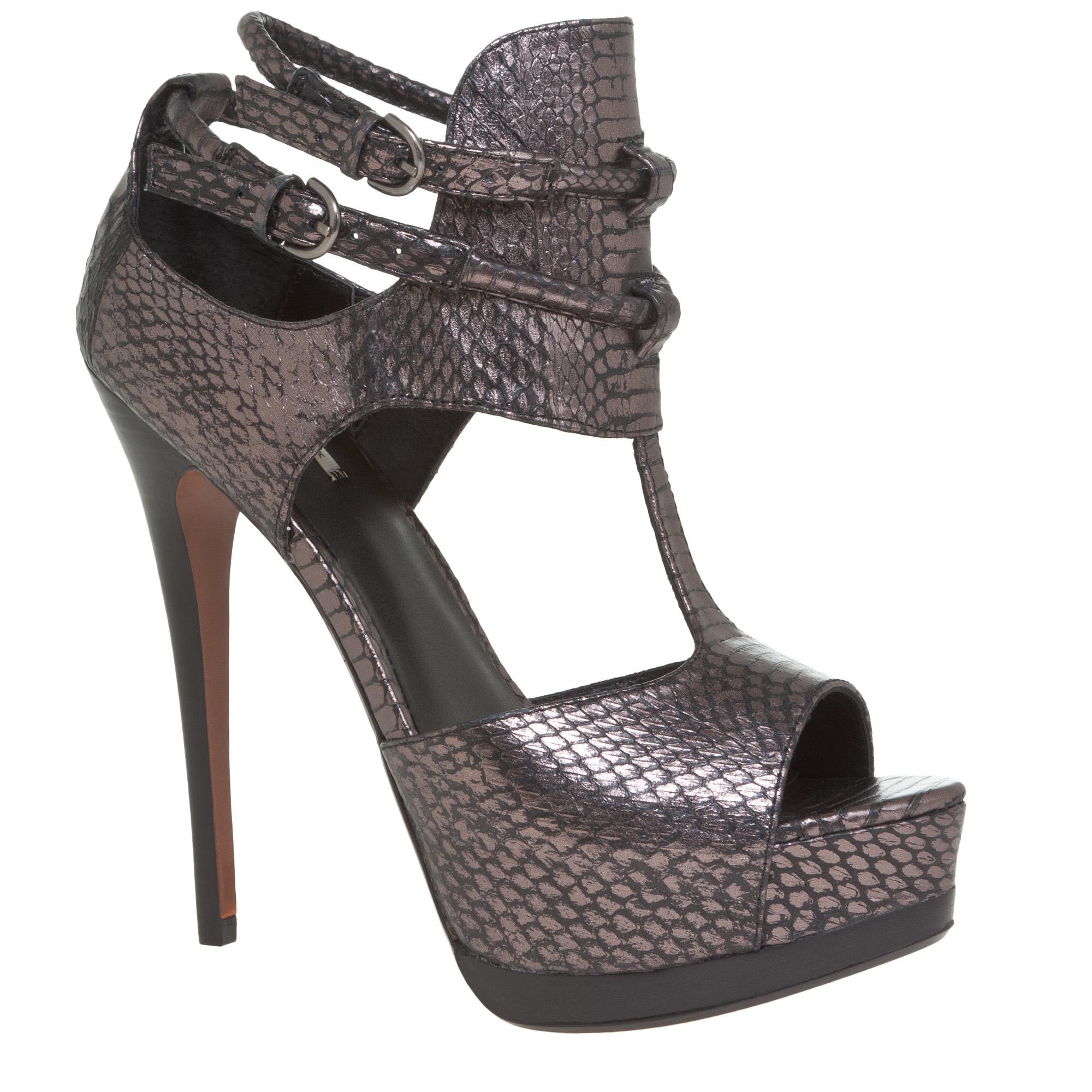 Leon max Bugsy - Double Platform High-heels in Metallic | Lyst