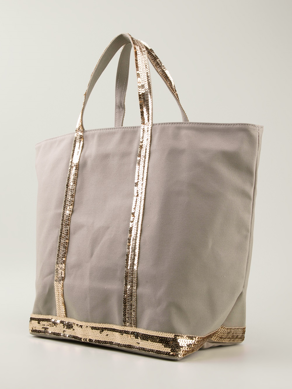 Vanessa bruno Wide Tote Bag in Gray | Lyst
