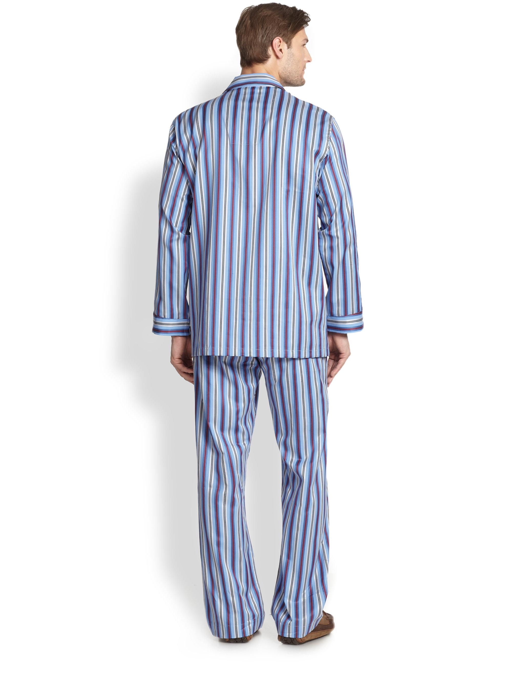 Mens Striped Pajamas - Breeze Clothing