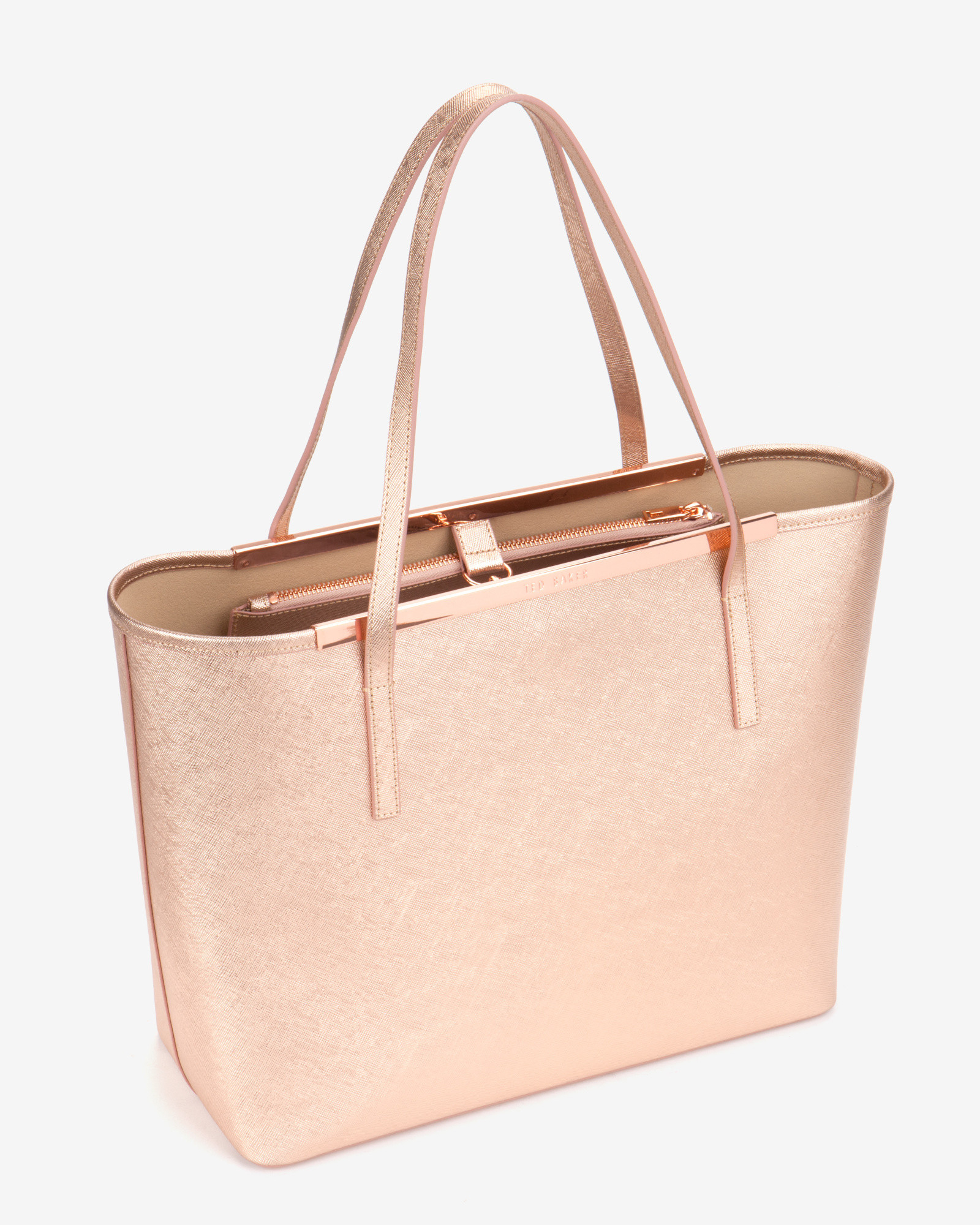 73132190a8679 Lyst - Ted Baker Jasmena Metallic Tote in Pink