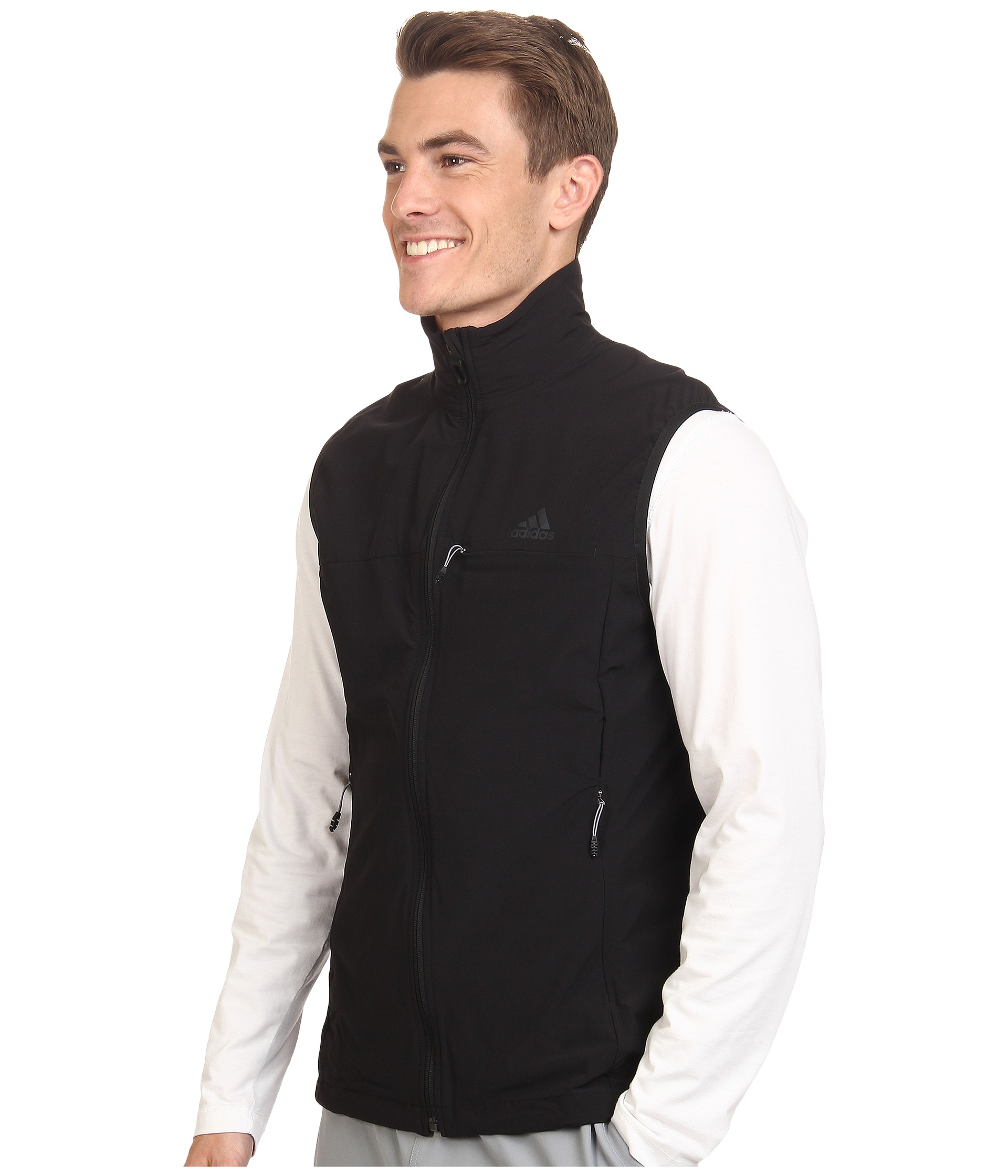 94f357c322d1 Lyst - adidas Terrex Swift Softshell Vest in Black for Men