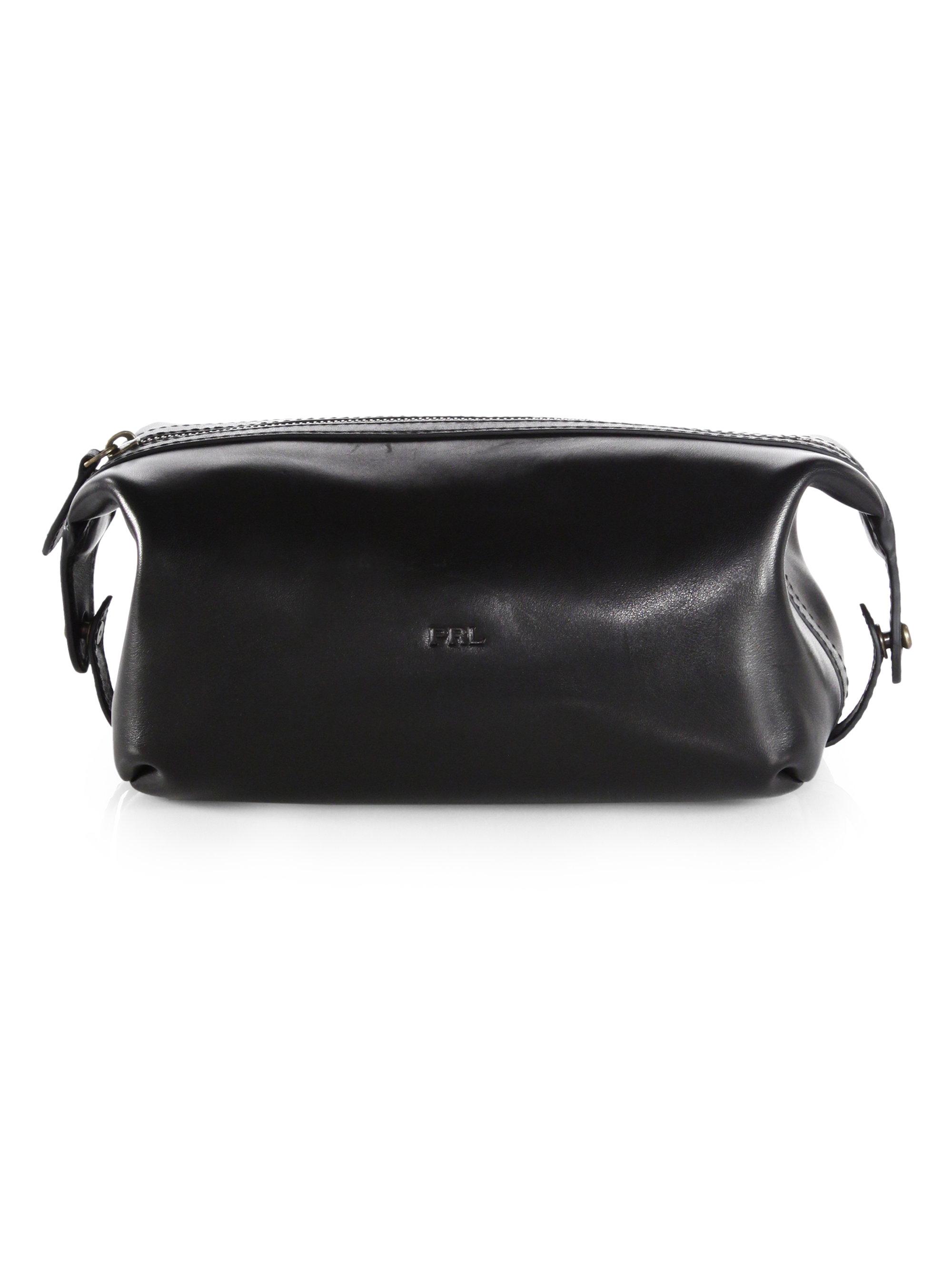 8223606891a6 Lyst - Polo Ralph Lauren Leather Shaving Kit in Black for Men