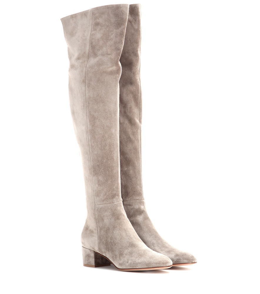 gianvito suede the knee boots in lyst