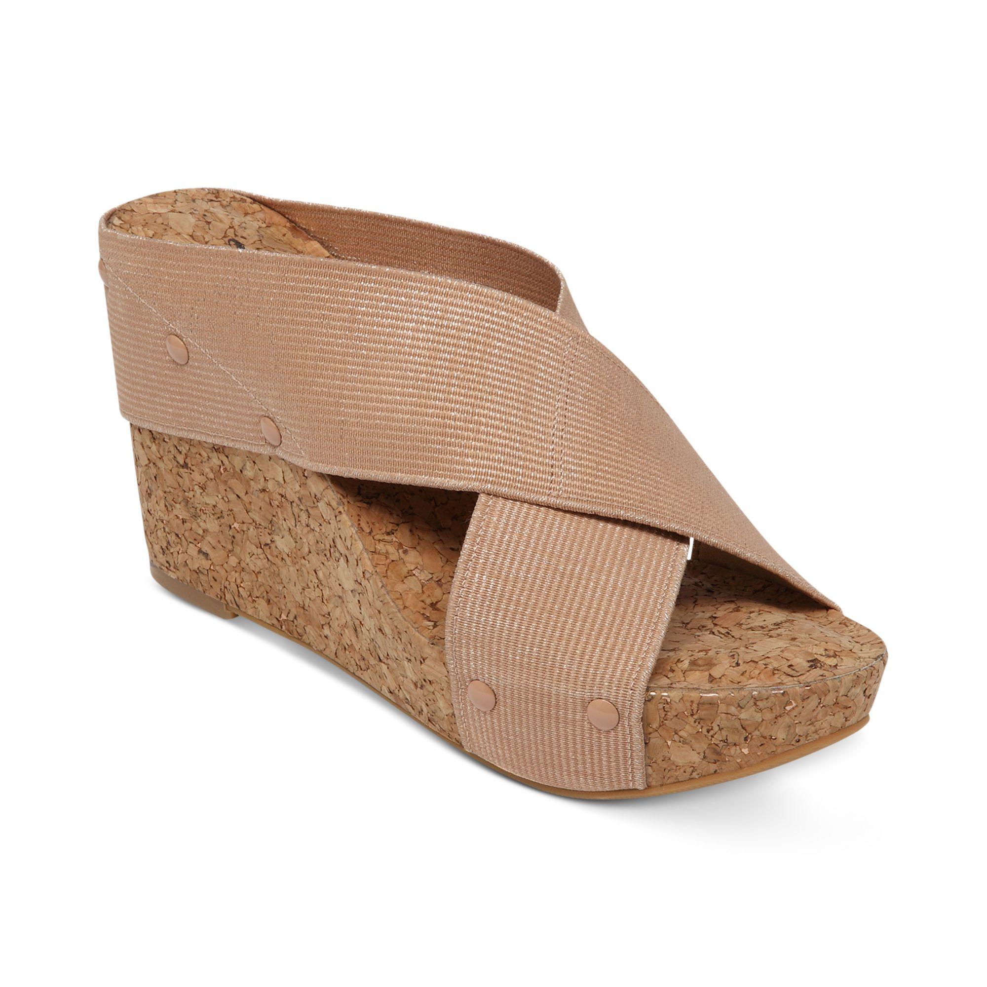 lucky brand miller2 platform wedge sandals in pink blush