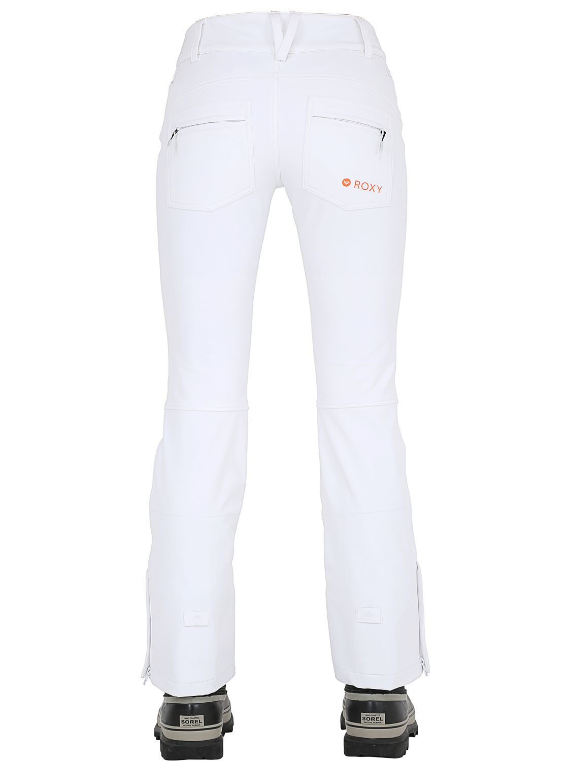 roxy creek insulated snow pants in white lyst