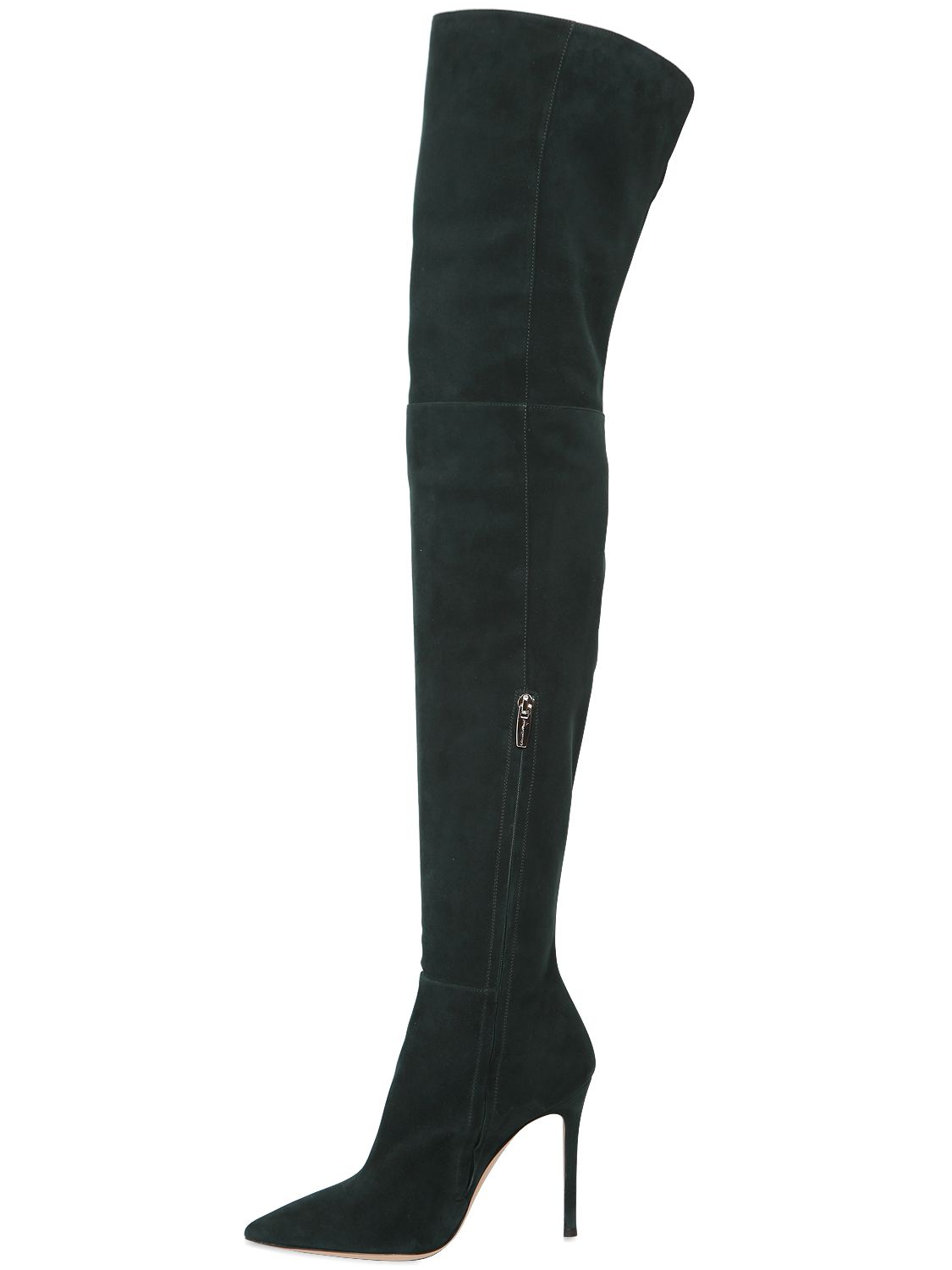 Gianvito Rossi Over-the-knee velvet boots yu087F0N