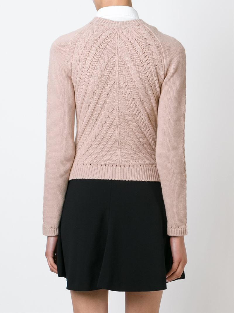 Supply Cheap Price Supply For Sale Red Valentino Open Cable Knit