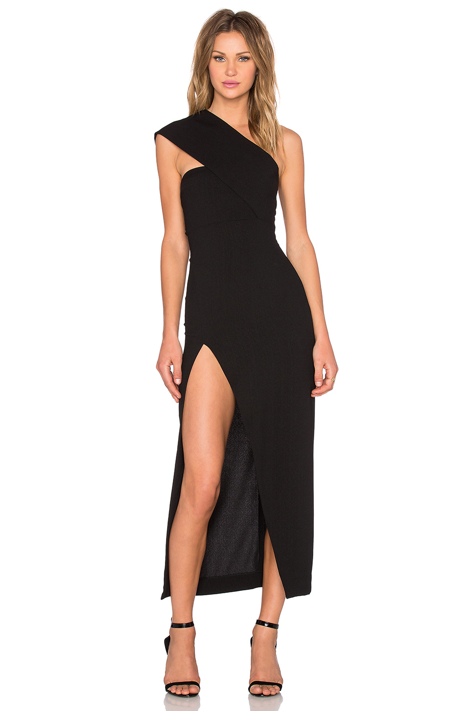 Solace London Dunaway Maxi Dress In Black Lyst