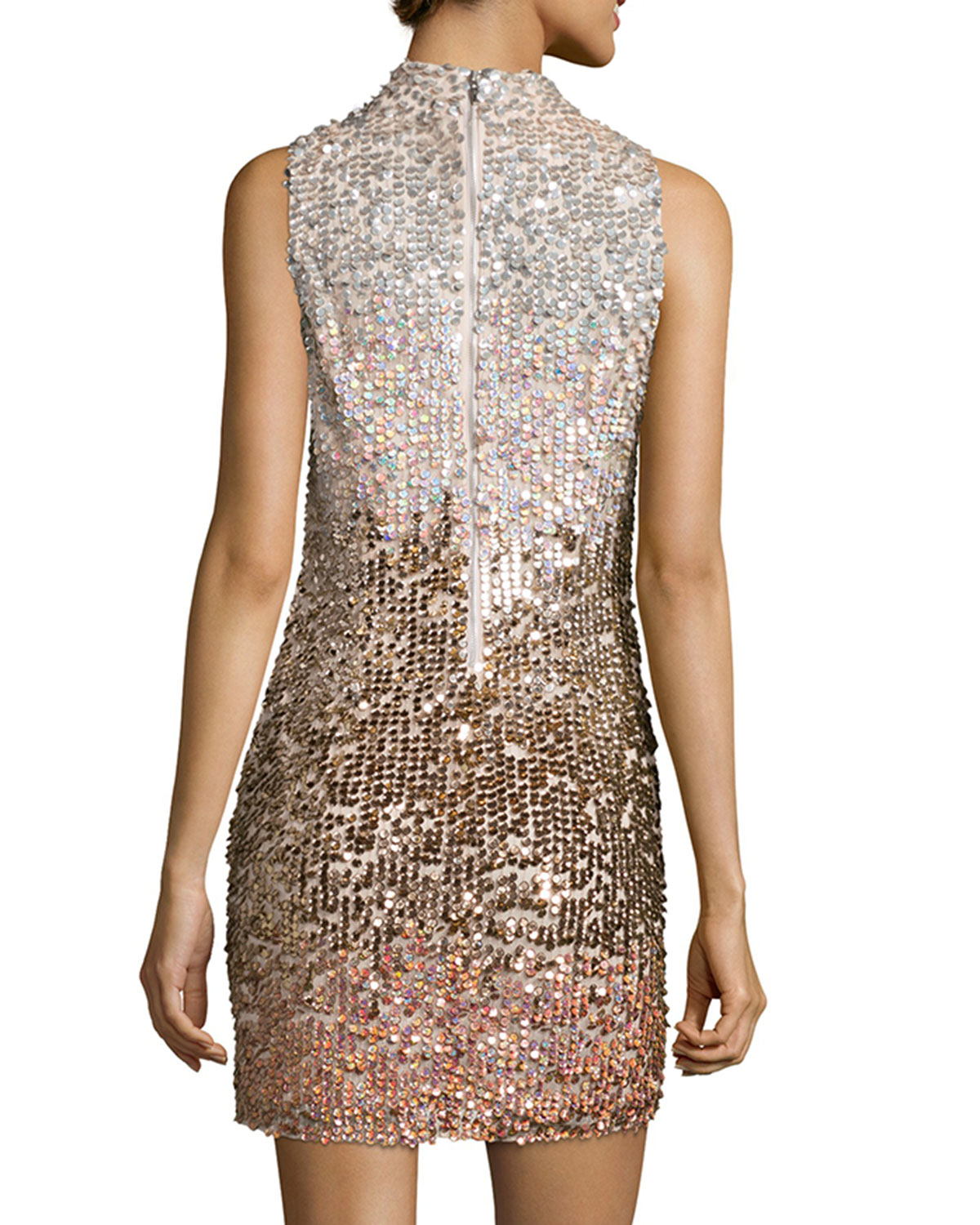 French connection cosmic beam embellished mini dress in for Cosmic pattern clothing