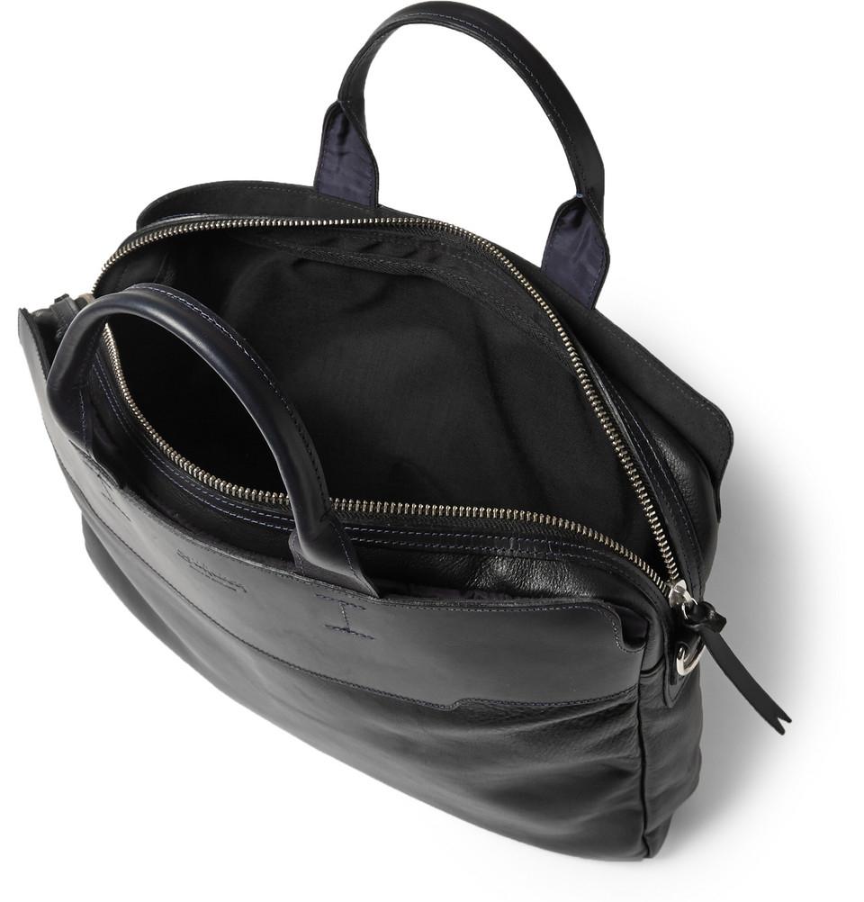bill amberg explorer leather briefcase in black for men lyst. Black Bedroom Furniture Sets. Home Design Ideas