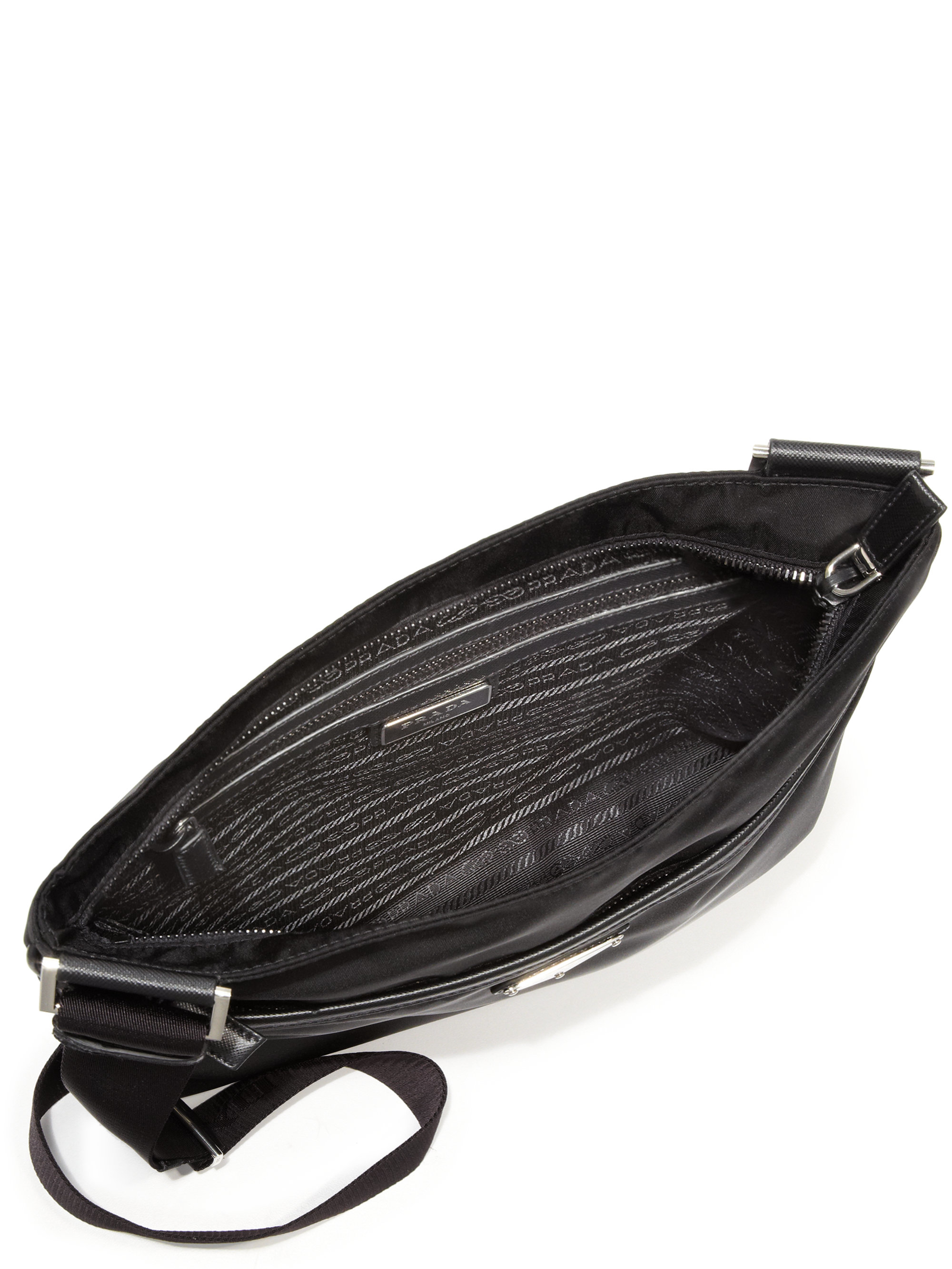 0a2e18879a9 50% off black and white prada bag prada bandoliera shoulder bag in black  for men