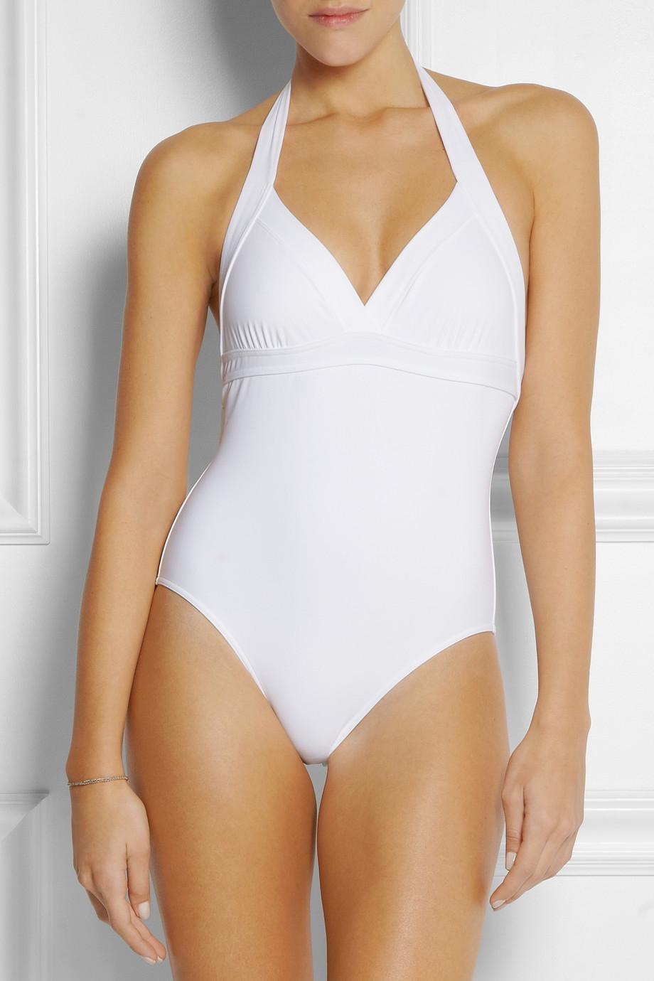 632e7931e5f47 Eres Les Essentiels Cassis Halterneck Swimsuit in White - Lyst