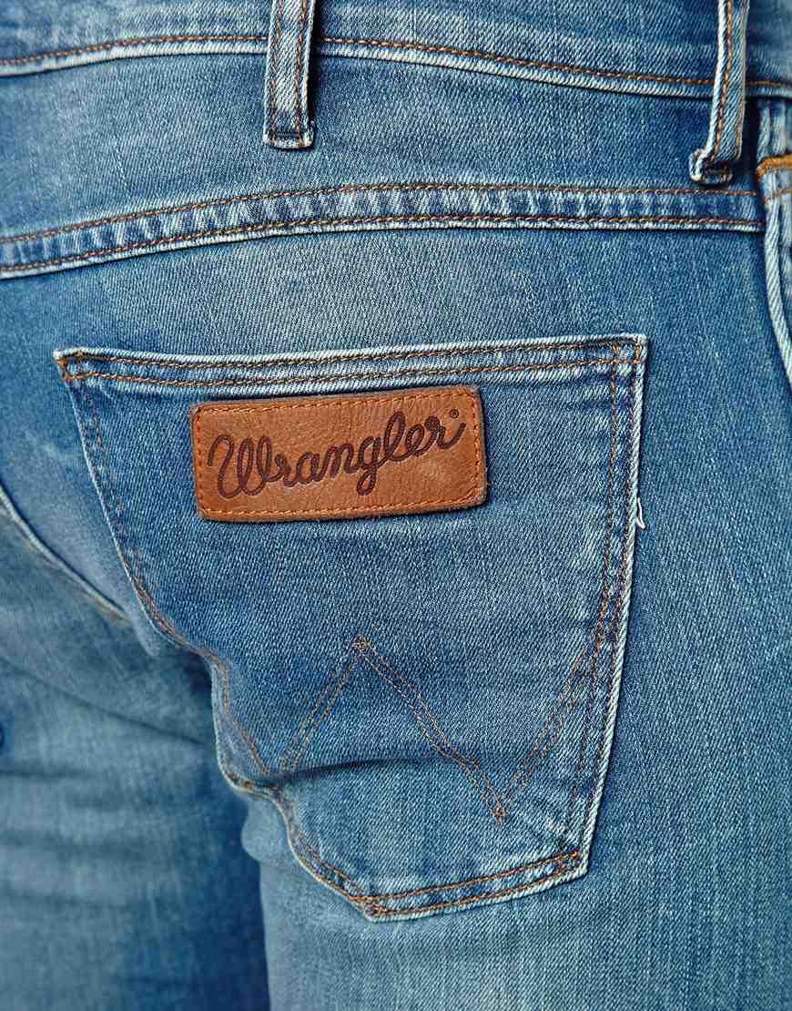 wrangler jeans bryson skinny fit deep sea decay wash in blue for men lyst. Black Bedroom Furniture Sets. Home Design Ideas