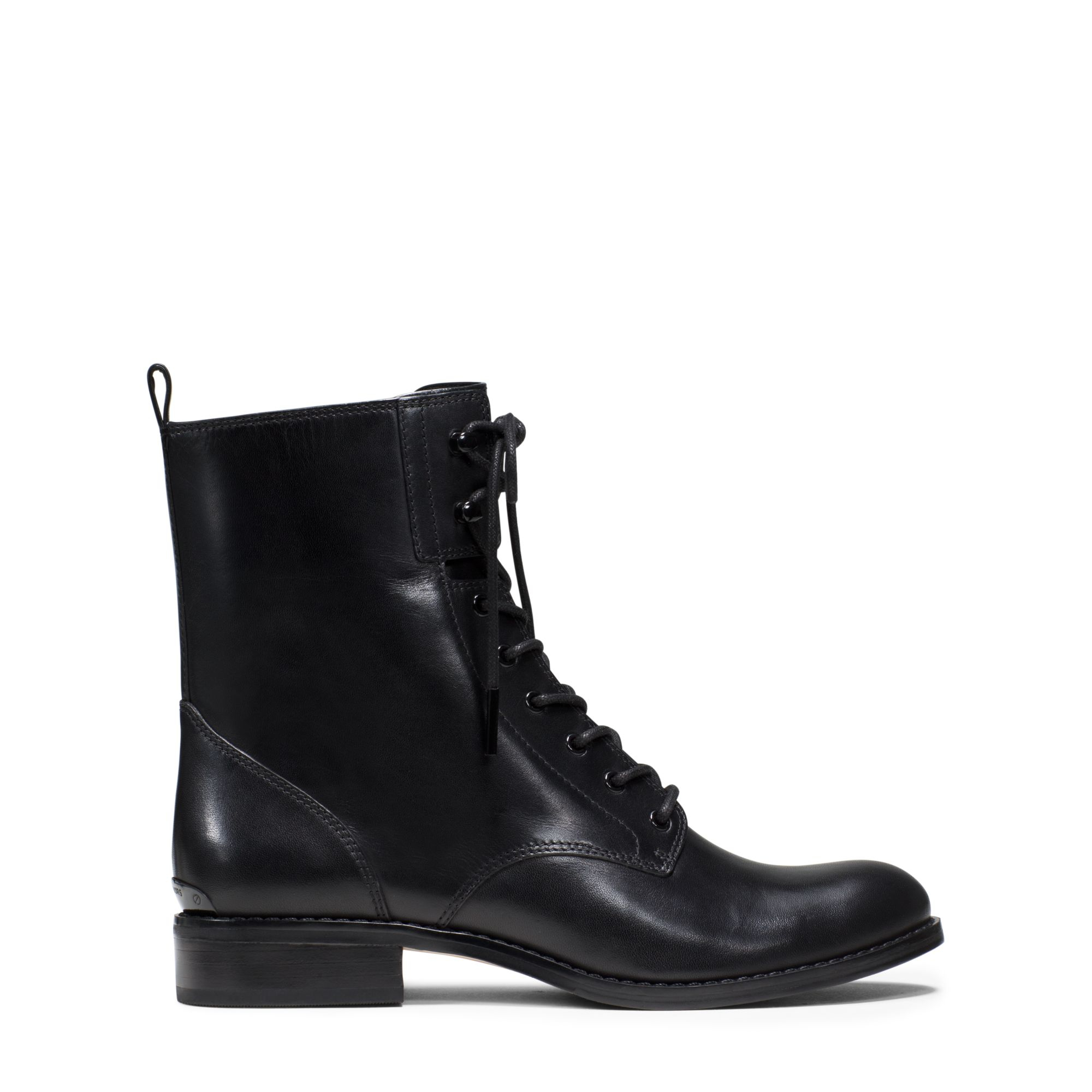 Michael kors Norwood Lace-up Leather Ankle Boot in Black | Lyst