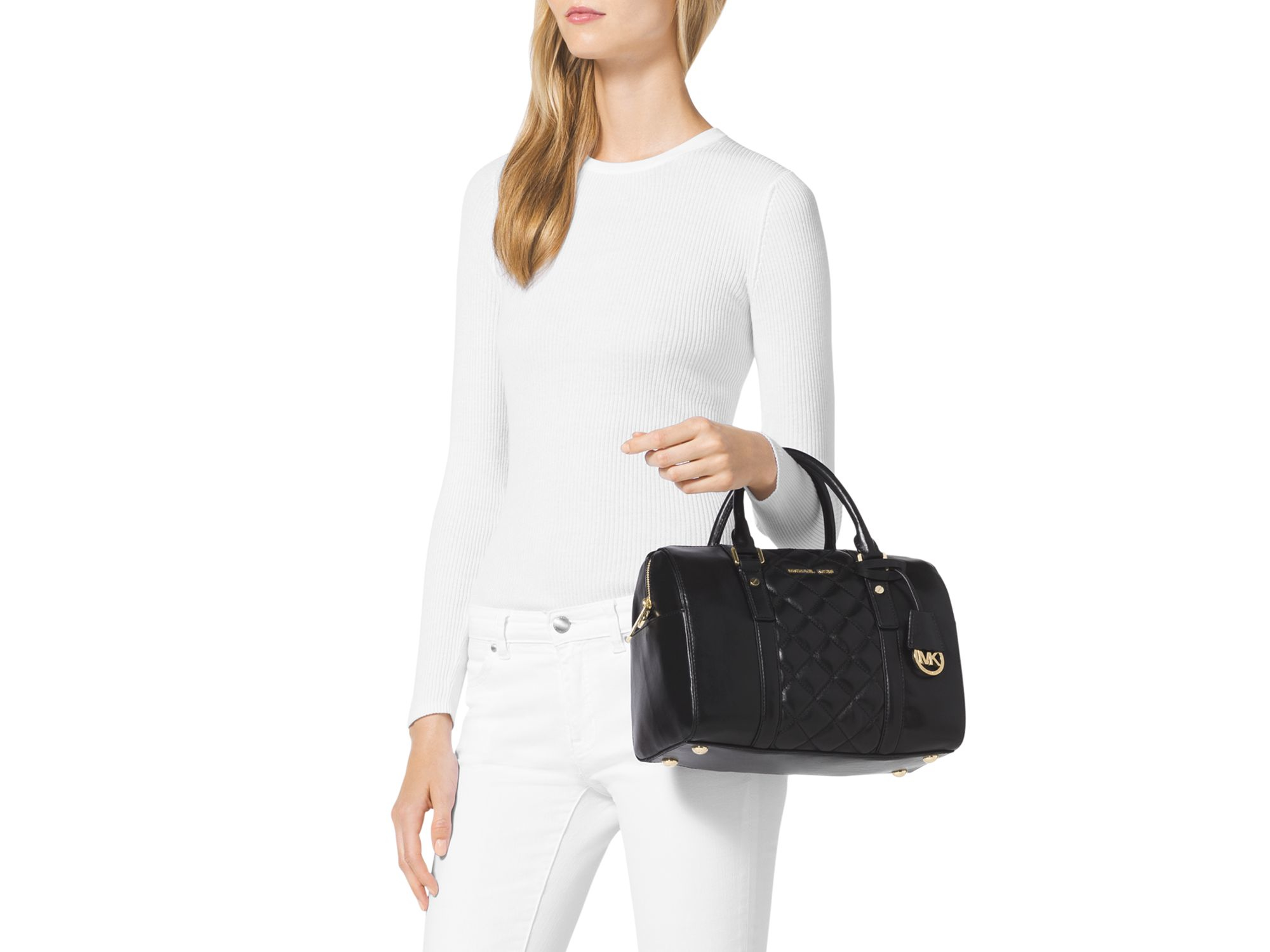 0d2f9cc16892 Gallery. Previously sold at  Bloomingdale s · Women s Michael Kors Grayson  Women s Michael Kors Quilted Bag ...