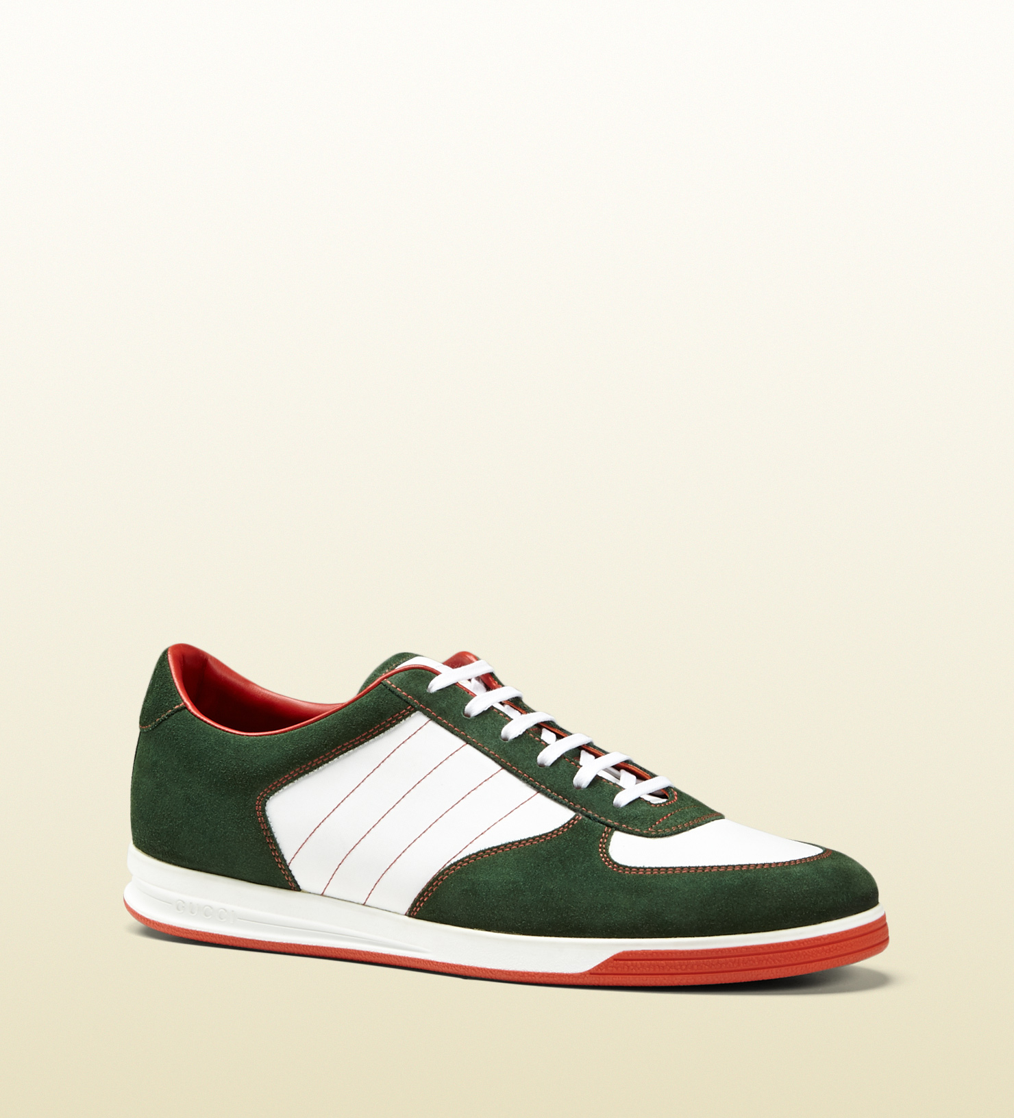 65451a24d05 Lyst - Gucci 1984 Low Top Sneaker In Suede in Green for Men