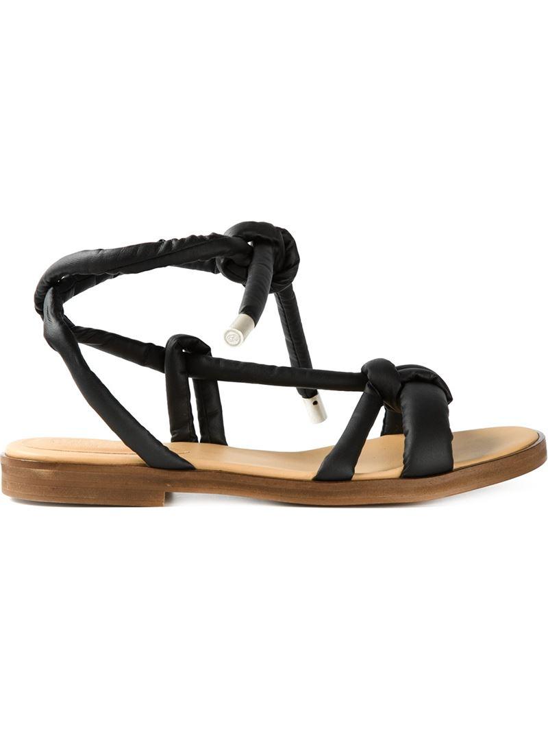 Lyst Mm6 By Maison Martin Margiela Knot Detail Sandals